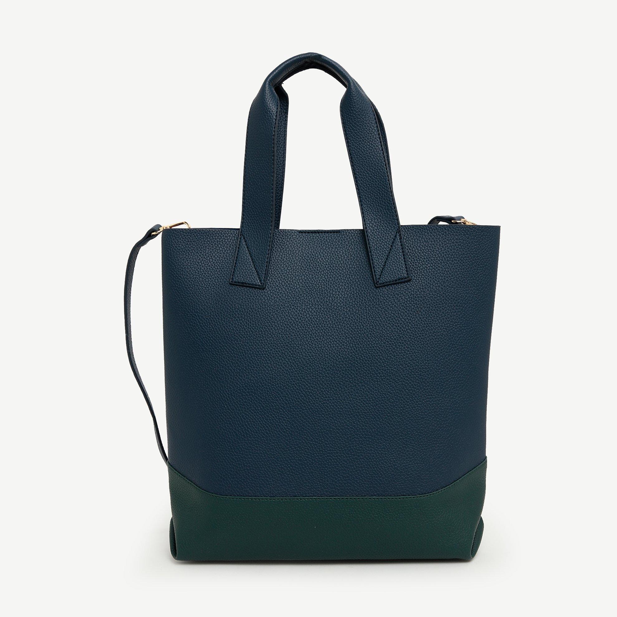 Handtasche zweifarbig