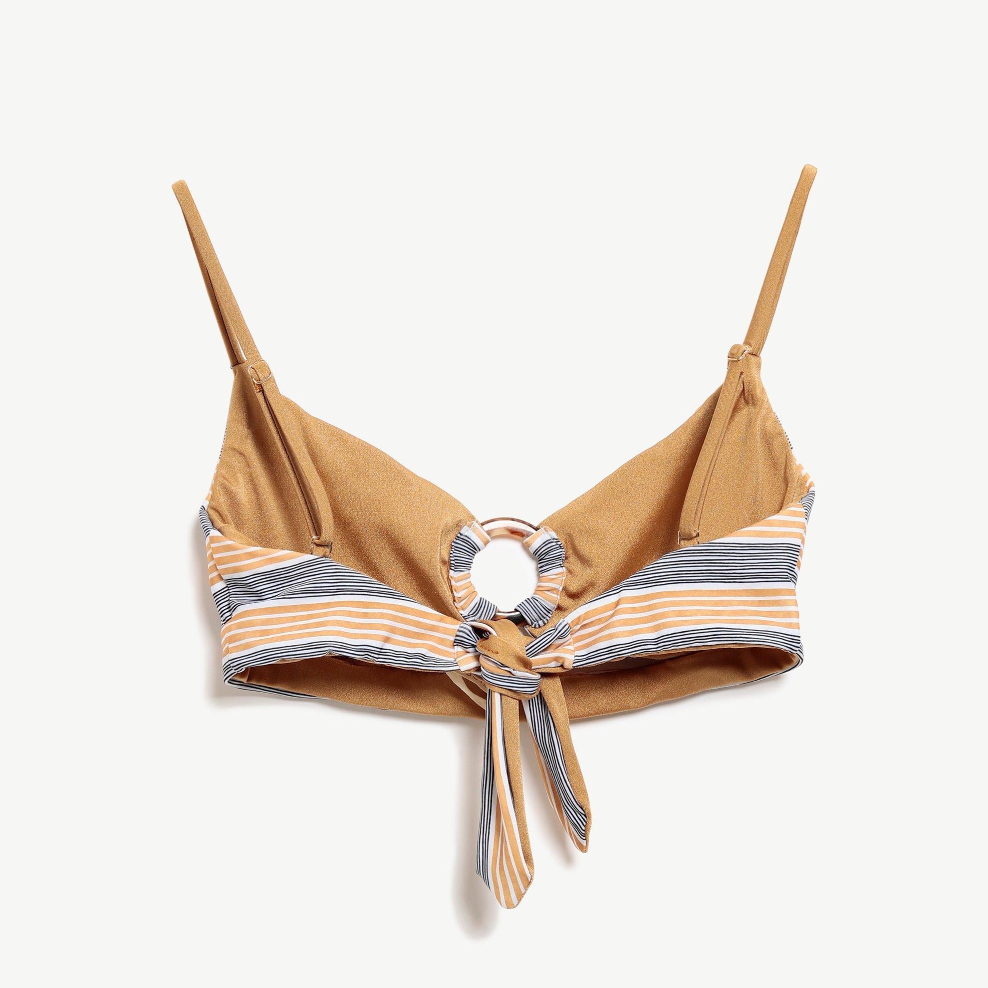 Bikini Top With Buckle Detailed