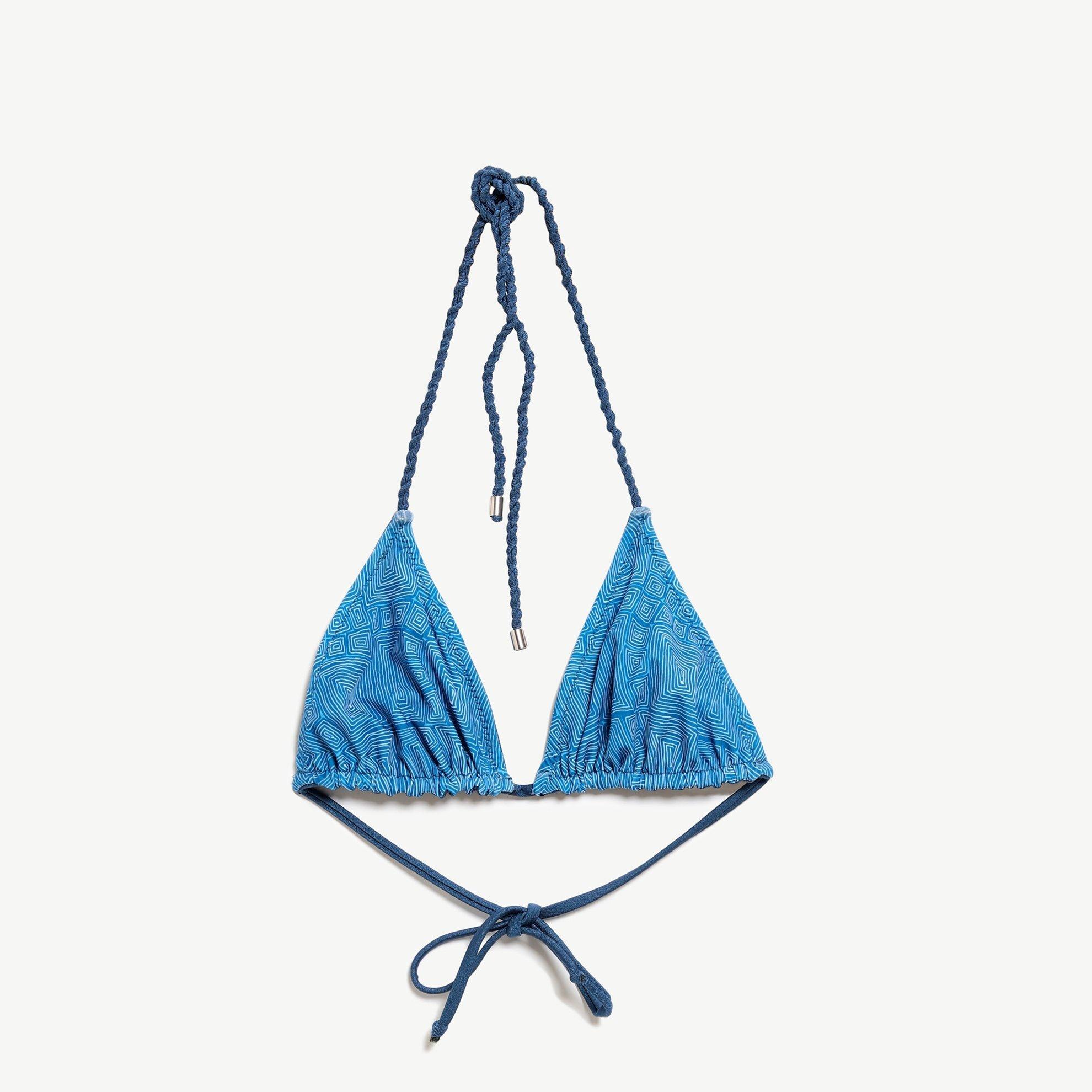 Tie Detailed Triangle Breast   Bikini Top