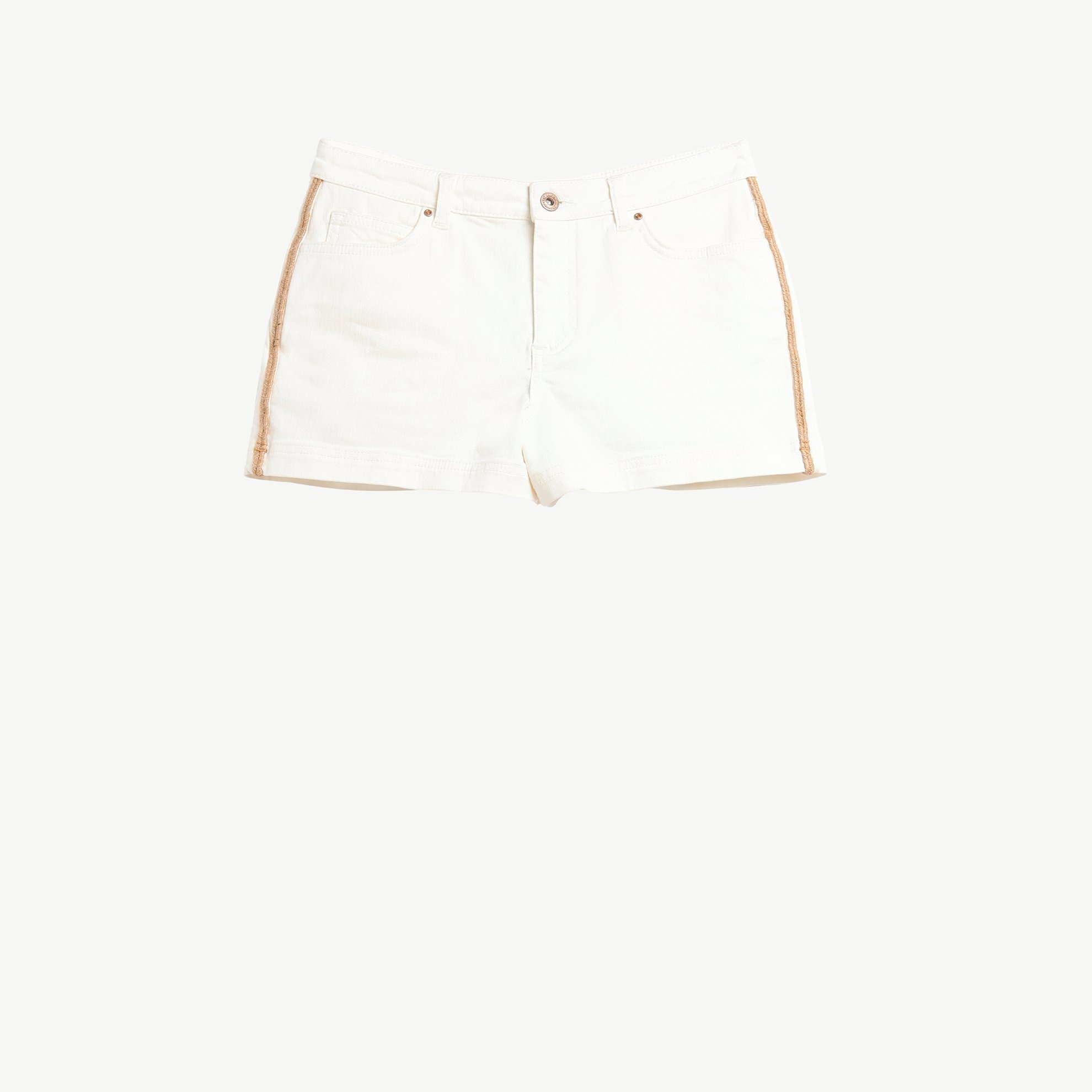 Piping Detailed 5 Pocket Shorts