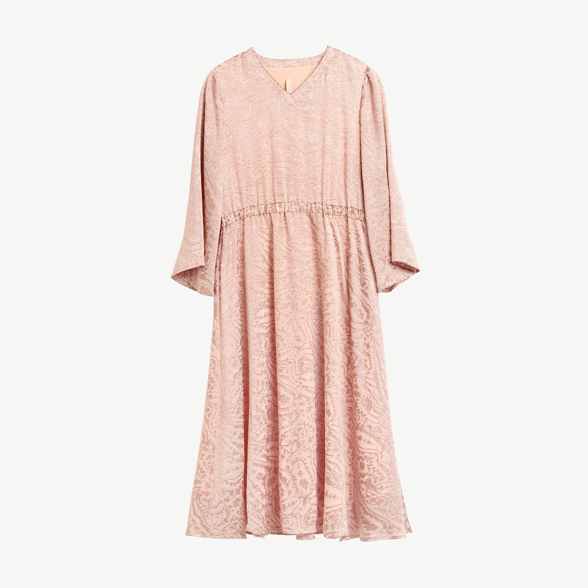 V Collar Maxi Dress