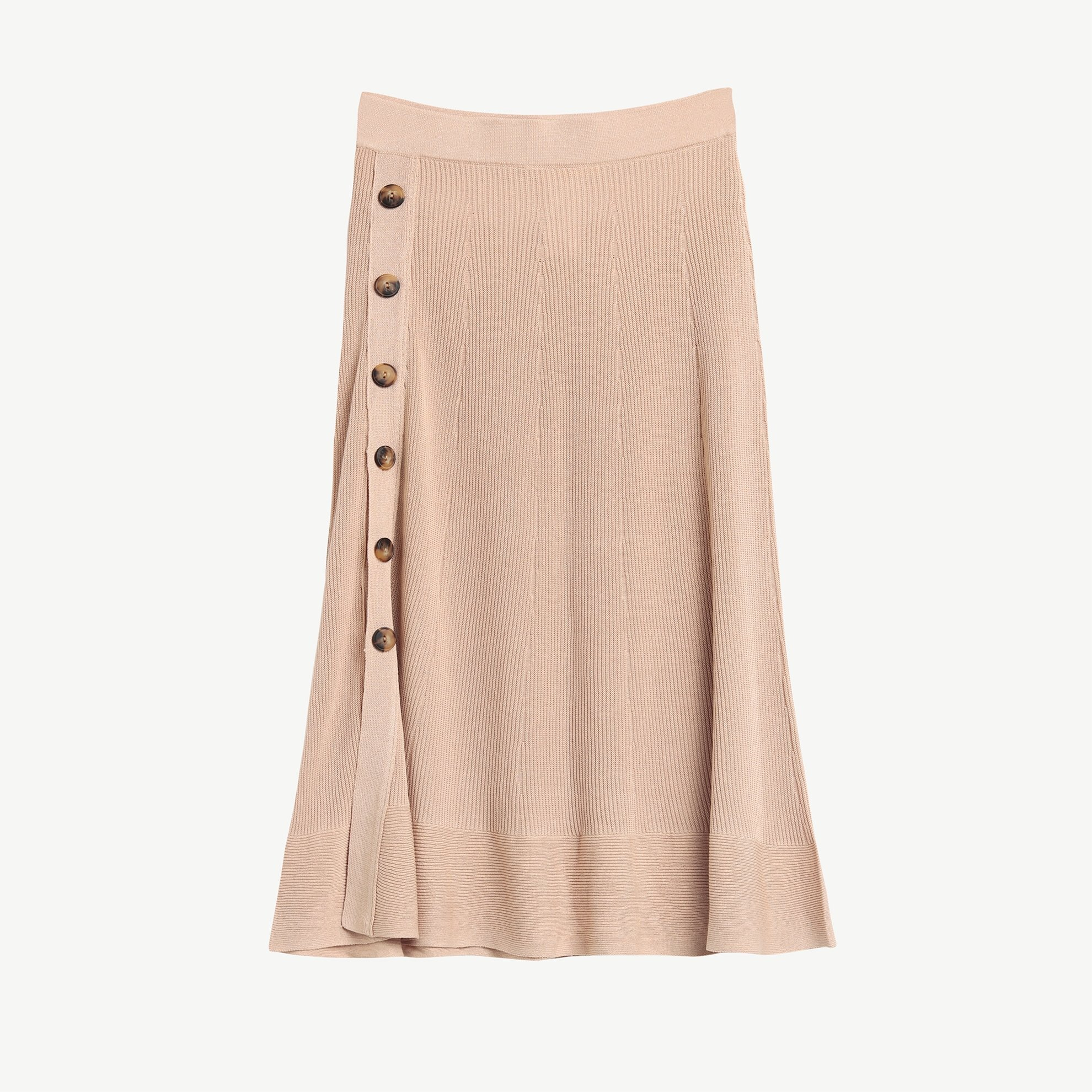 Button Detail Knit Skirt