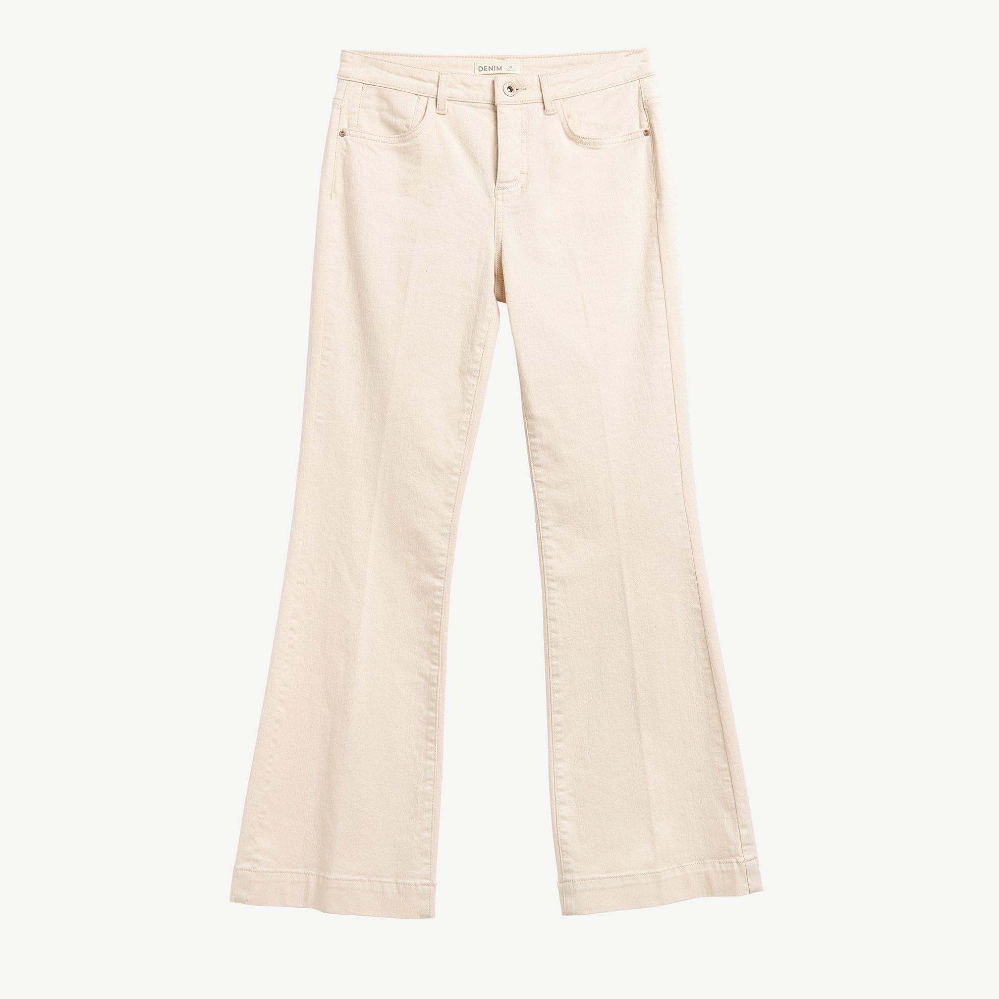 Flare Fit Denim Trousers
