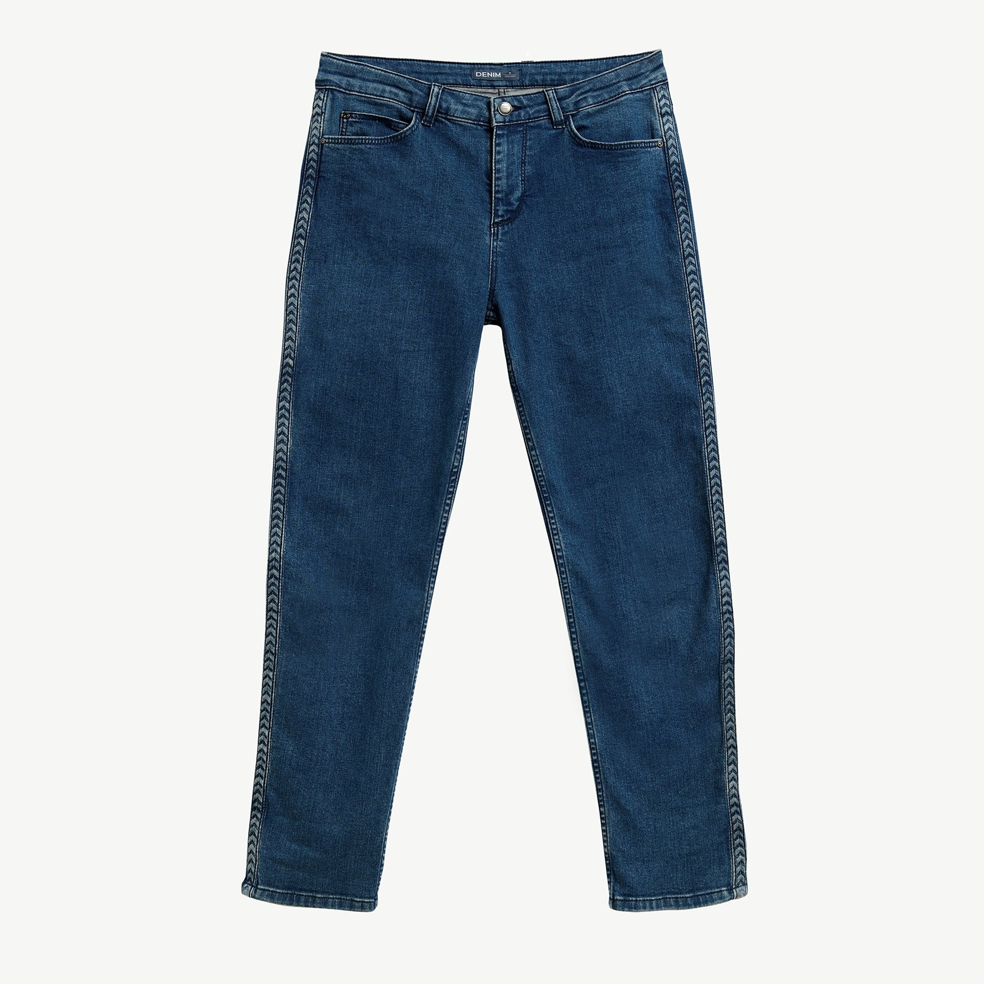 Pocket Detailed Denim Trousers