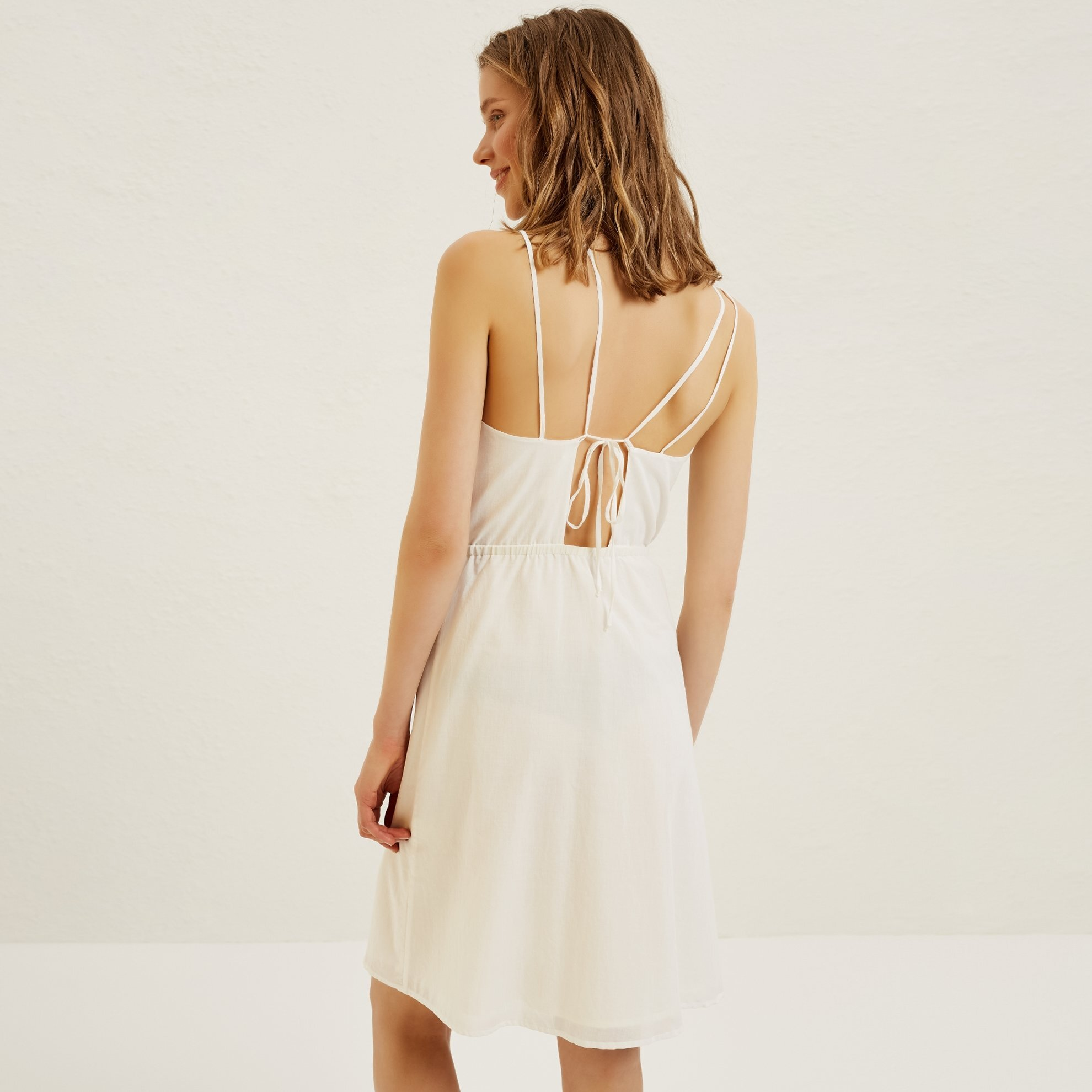 Embroidered Strappy Dress
