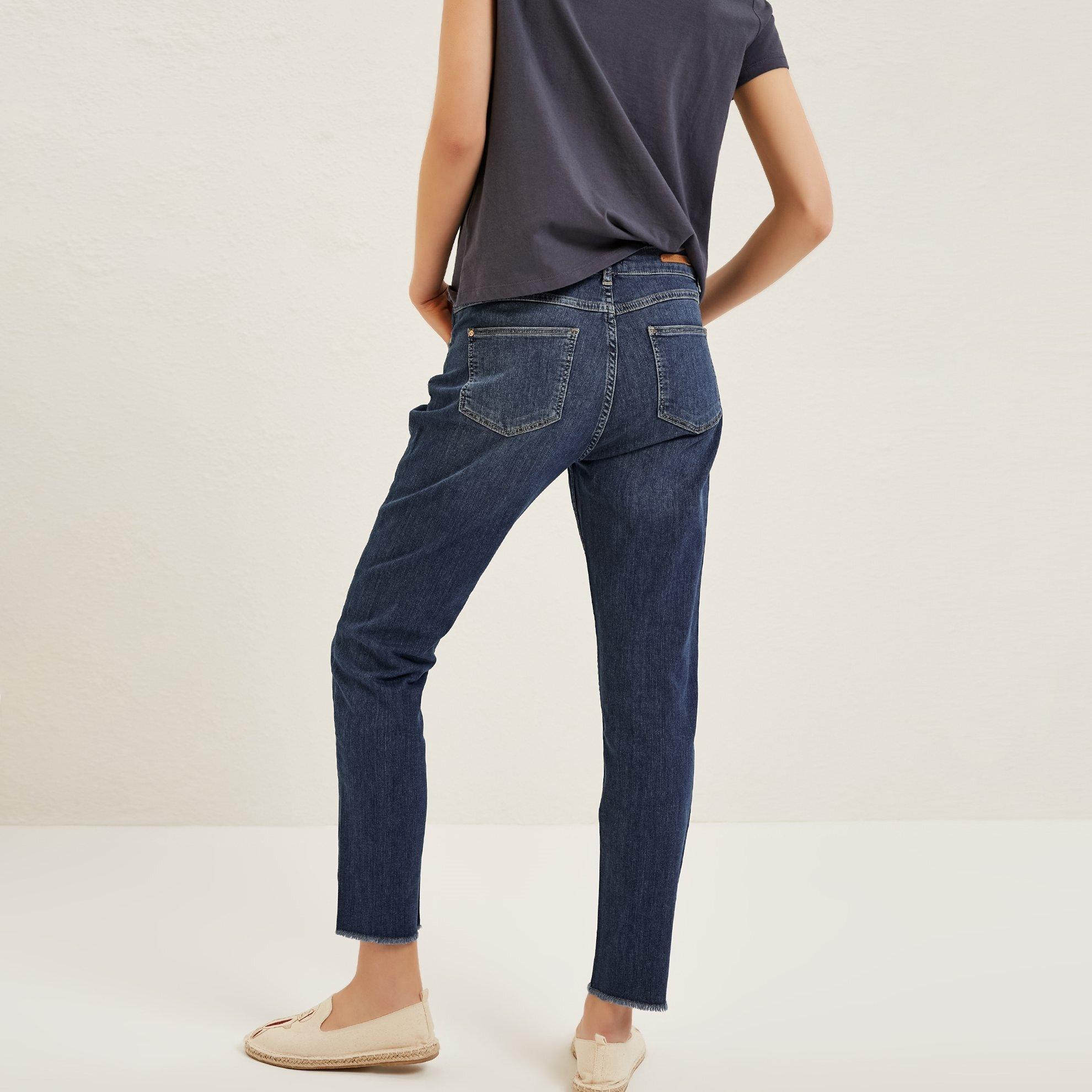 Slit Detailed Skinny Denim Trousers