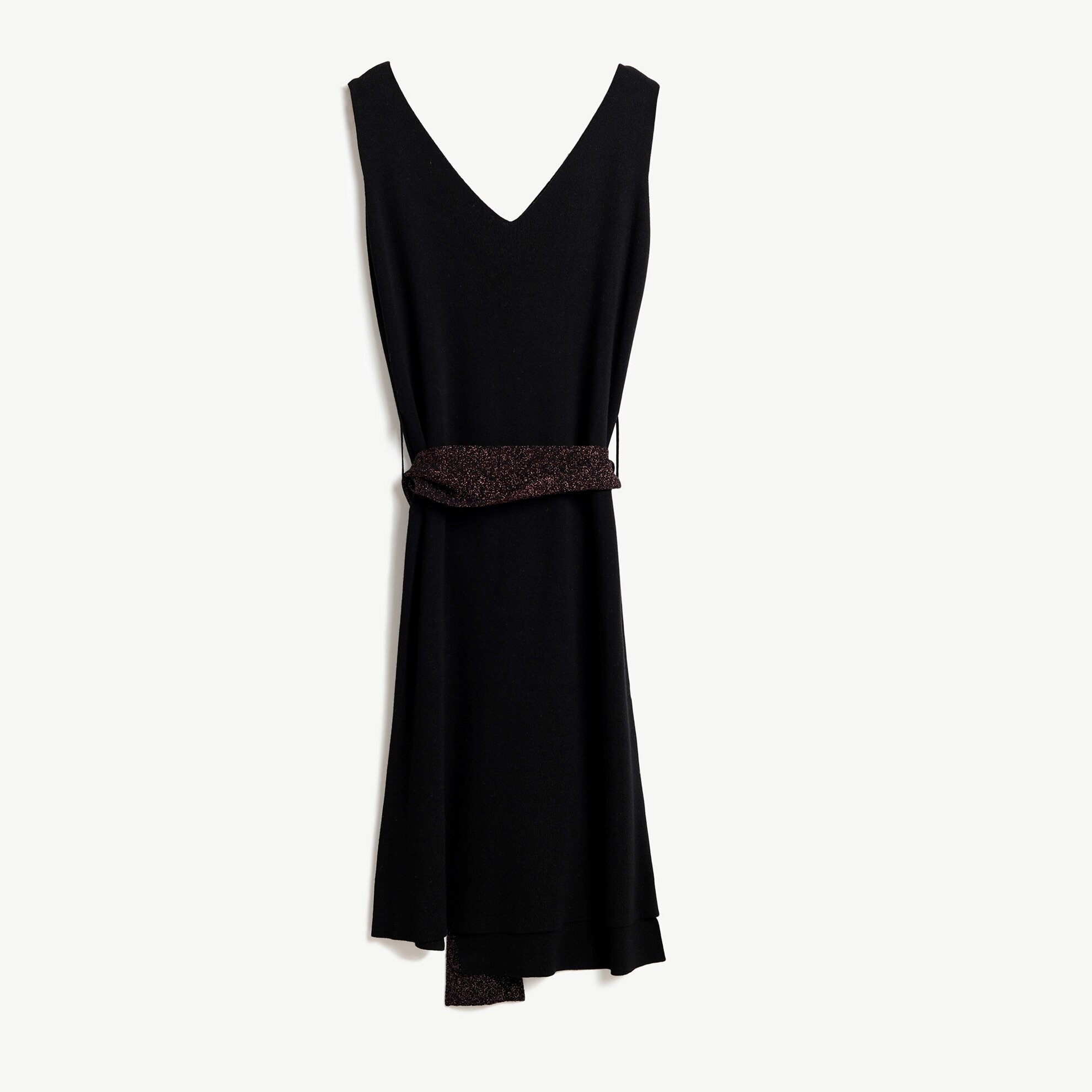 V Neck Sleeveless Knitted Dress