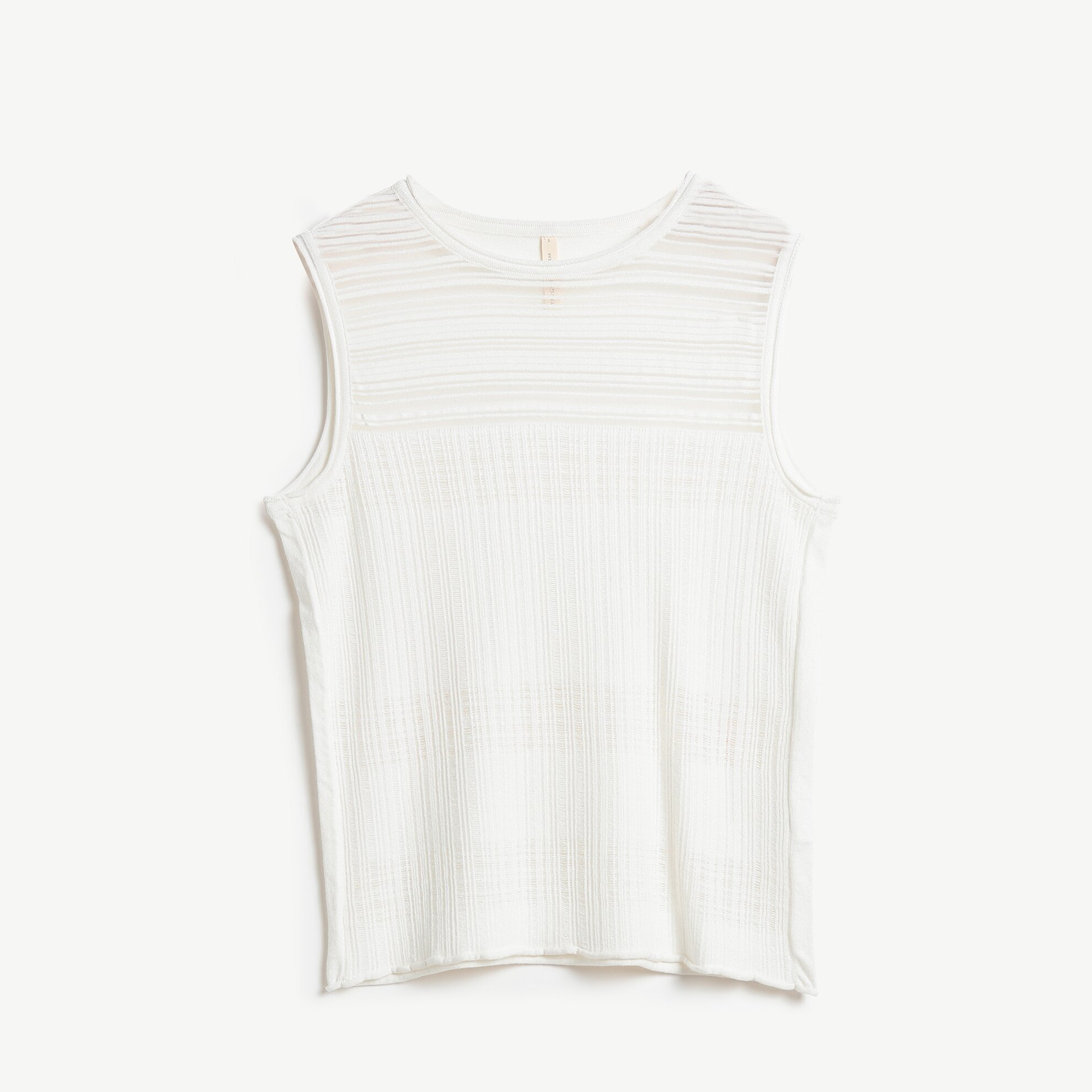Crew Neck Sleeveless Knitwear