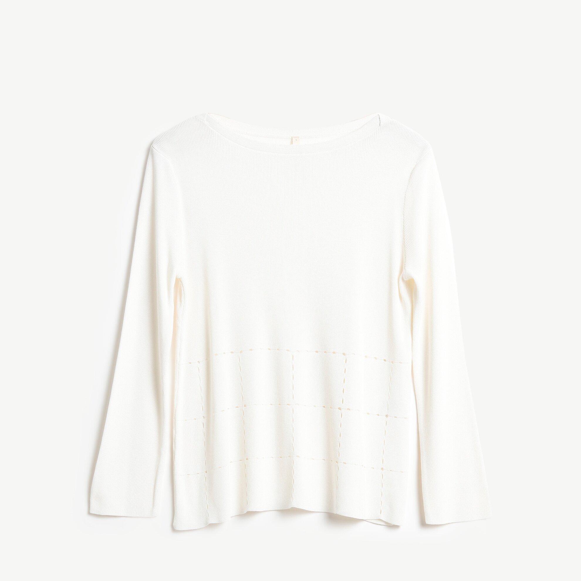 3/4 Sleeve Crew Neck Knitwear