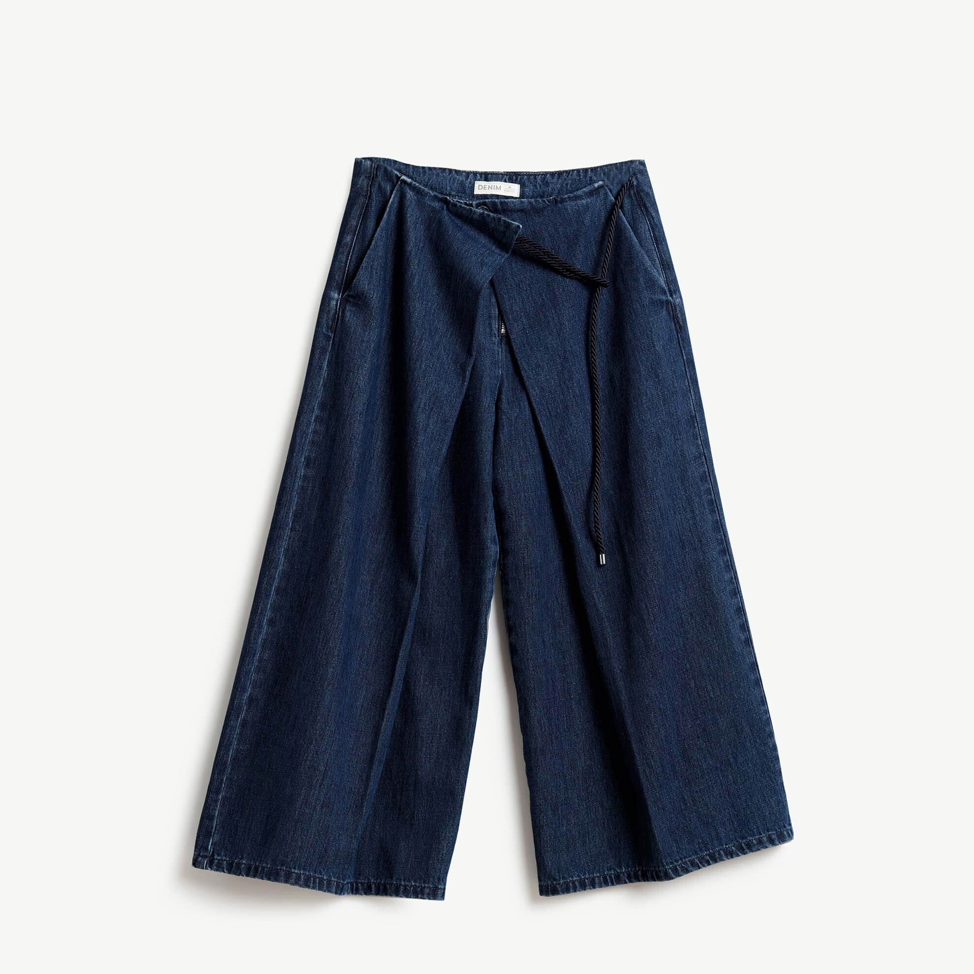 Wide Leg Denim Trouser