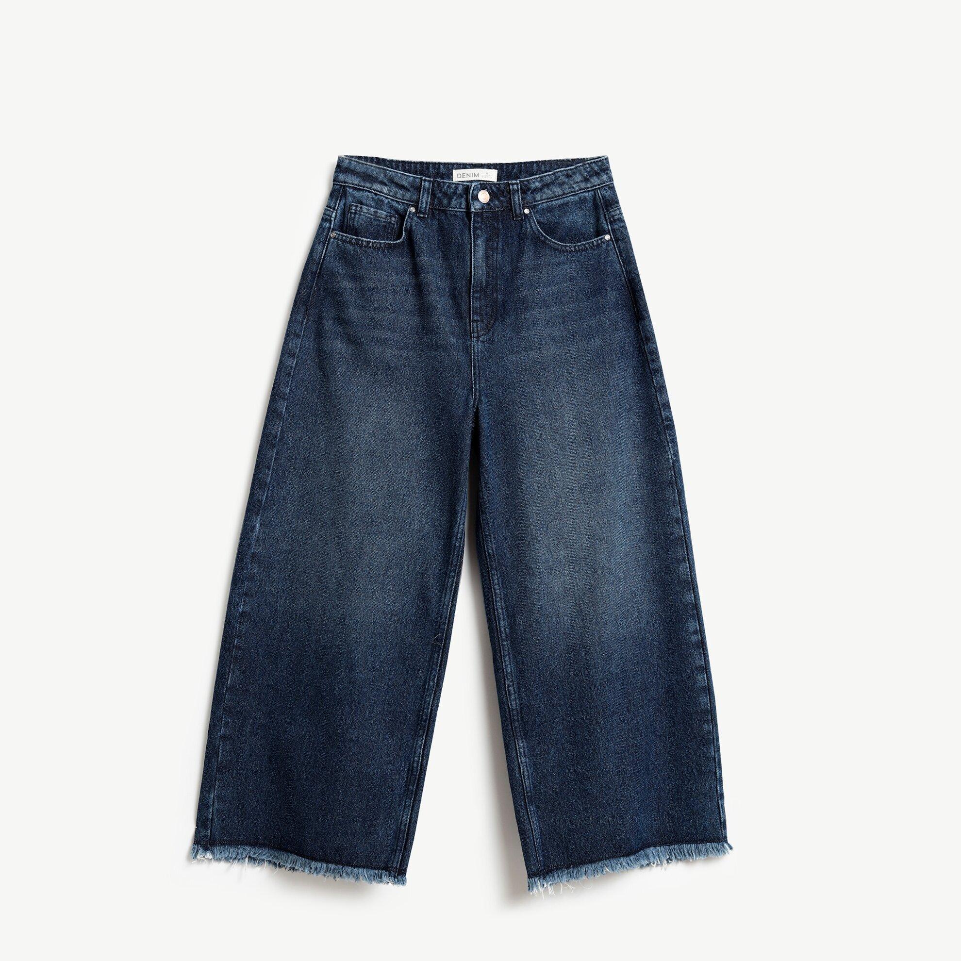 Raw Edge Denim Trouser