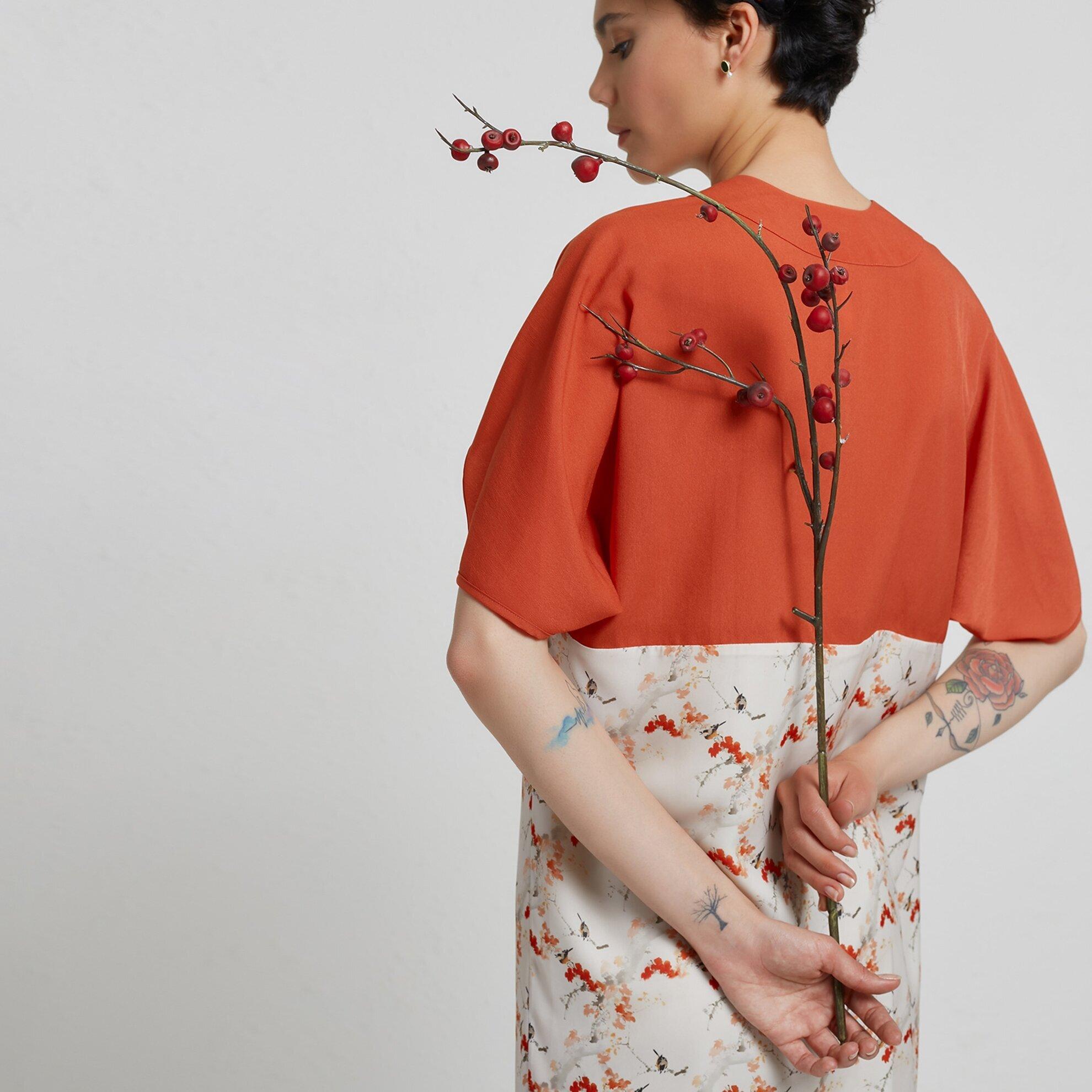 Kısa Kollu Kimono Elbise