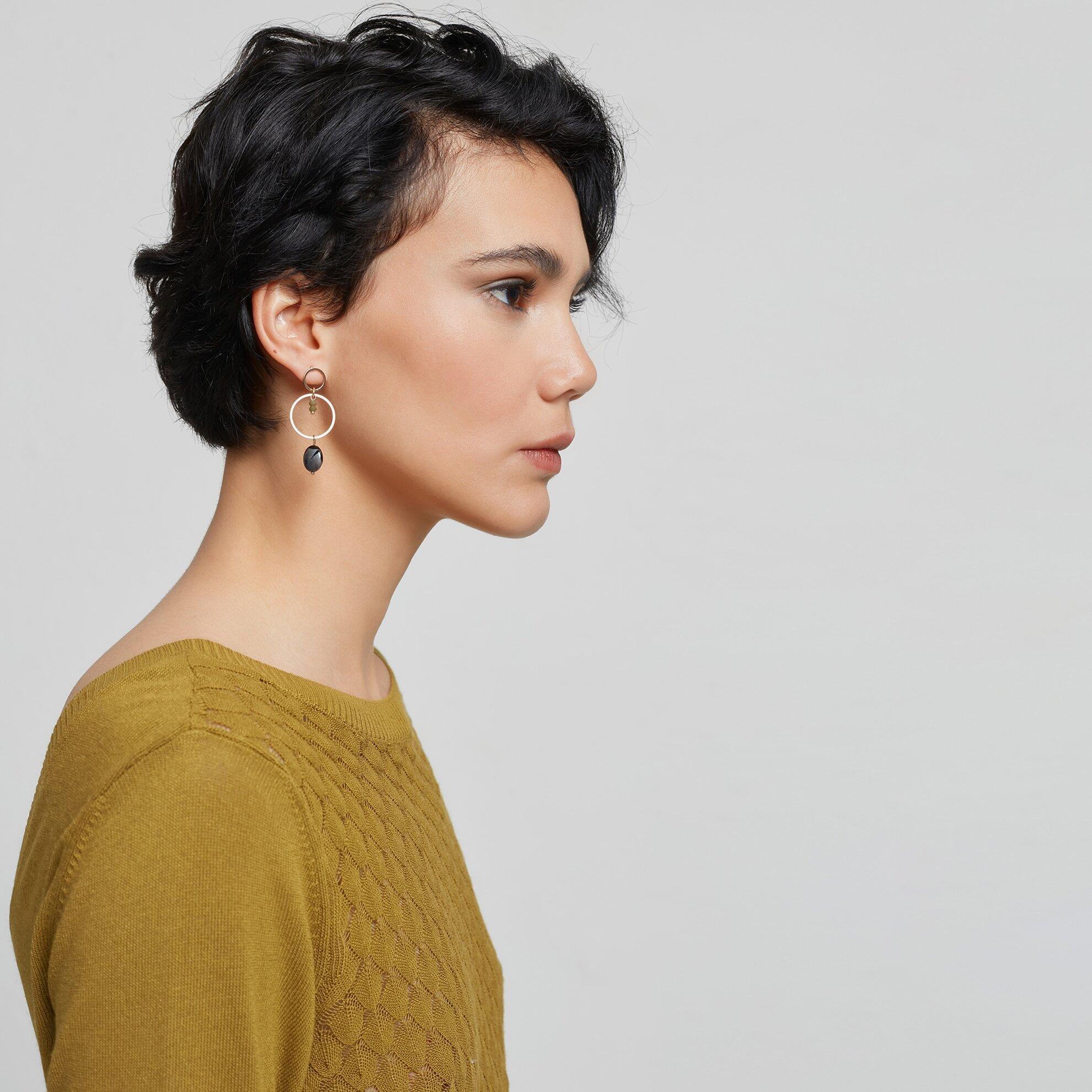 Damen Strickpullover mit V-Ausschnitt