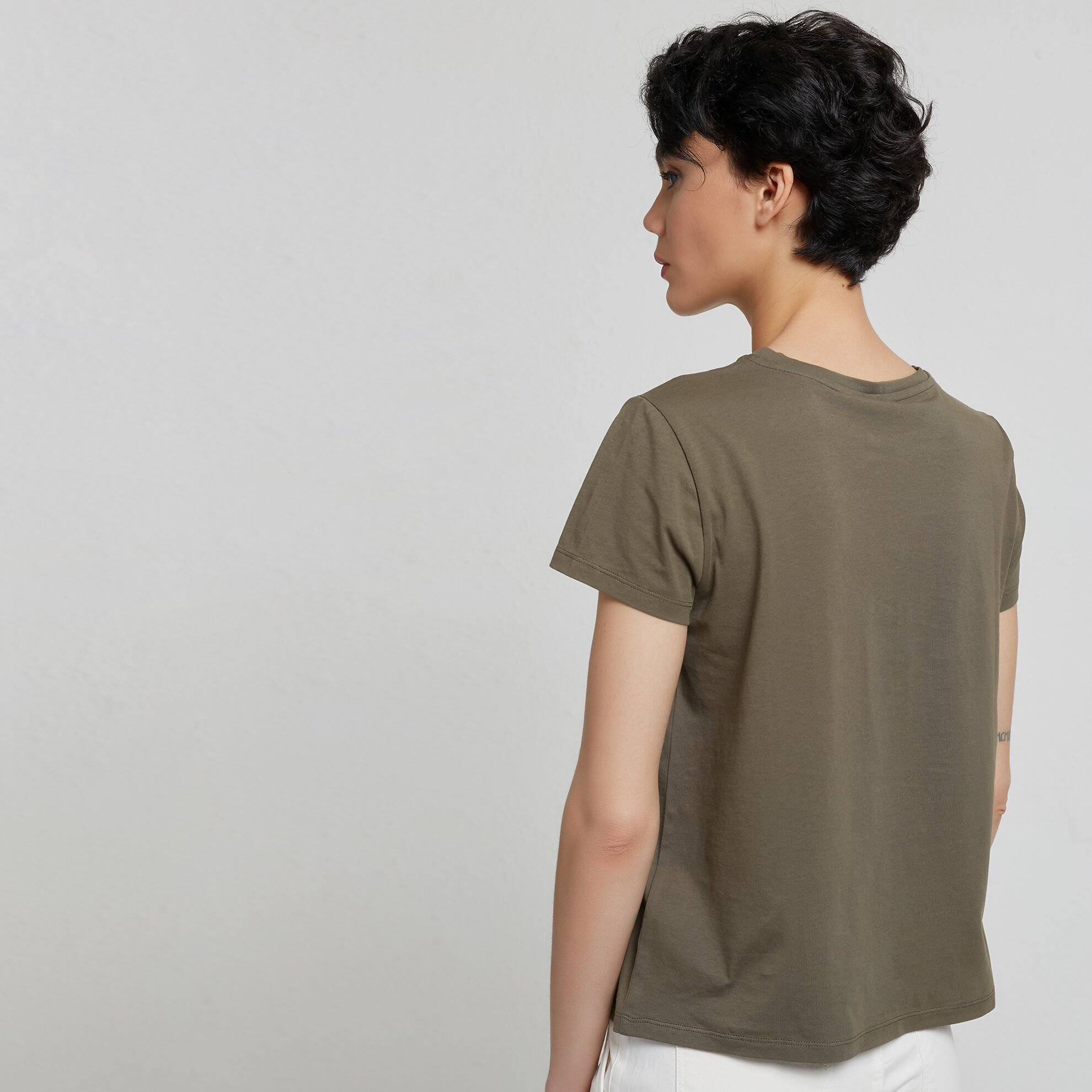 Embroidery Detailed Short Sleeve T-Shirt