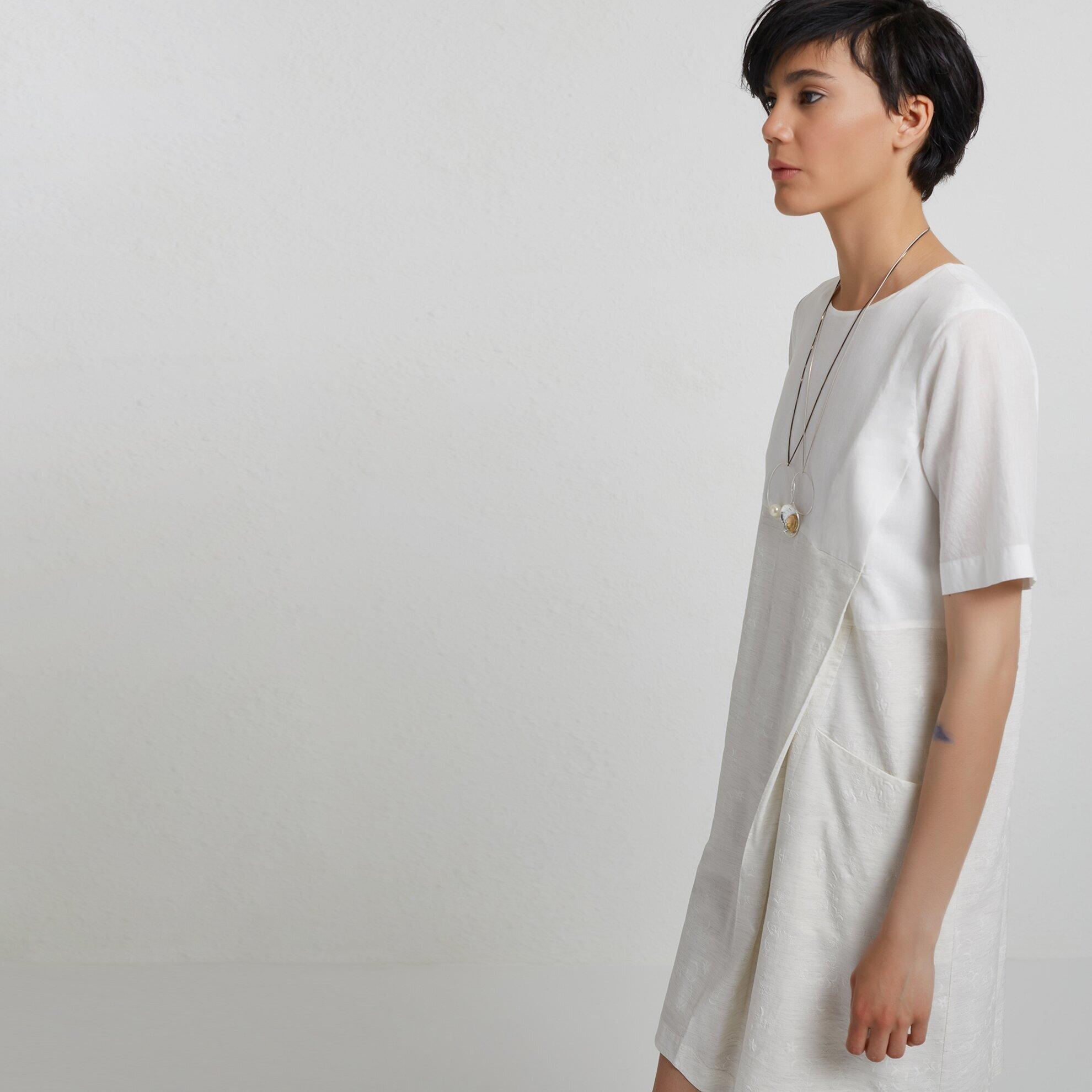 Kleid mit Farbblöcken