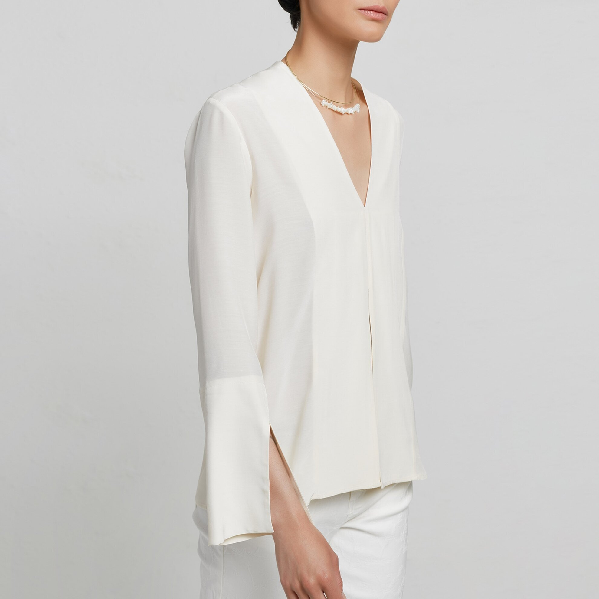 Slit Detailed Shirt