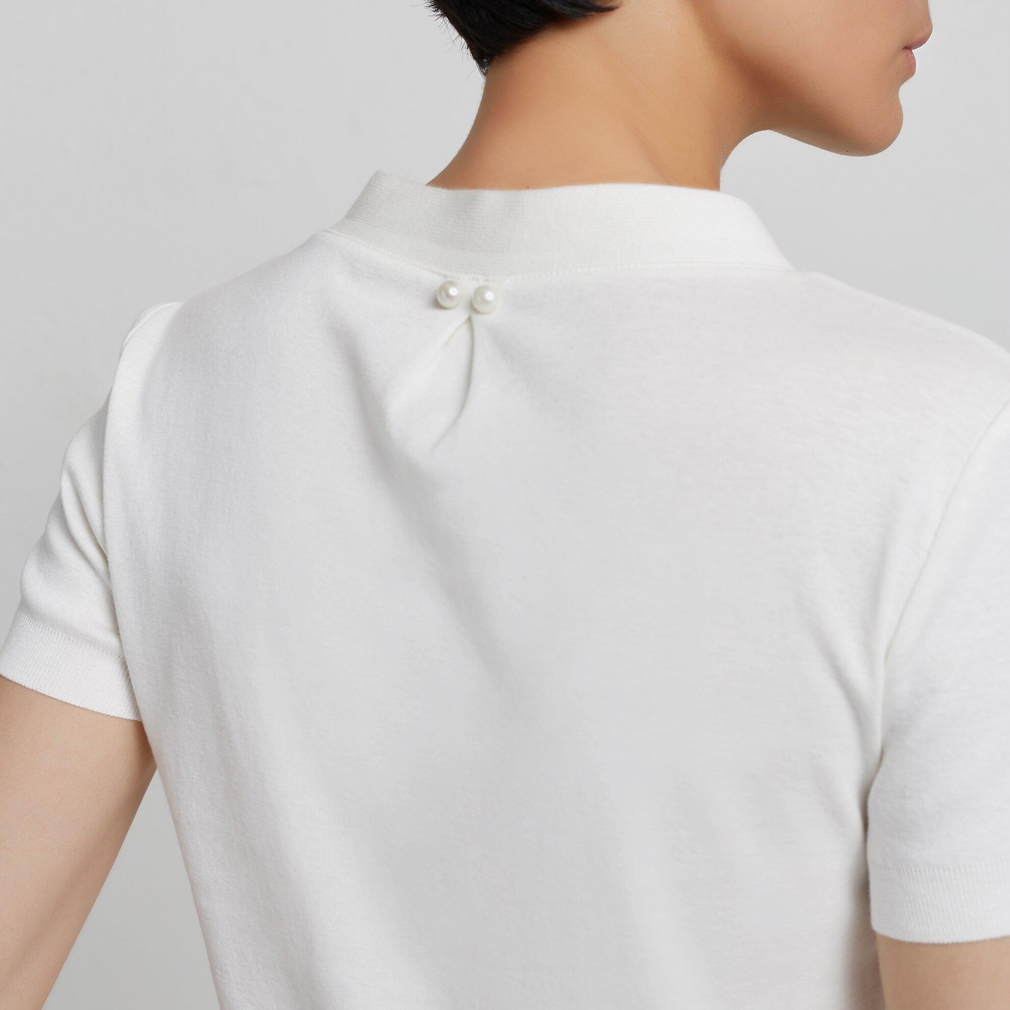 V Neck Short Sleeve Knitwear