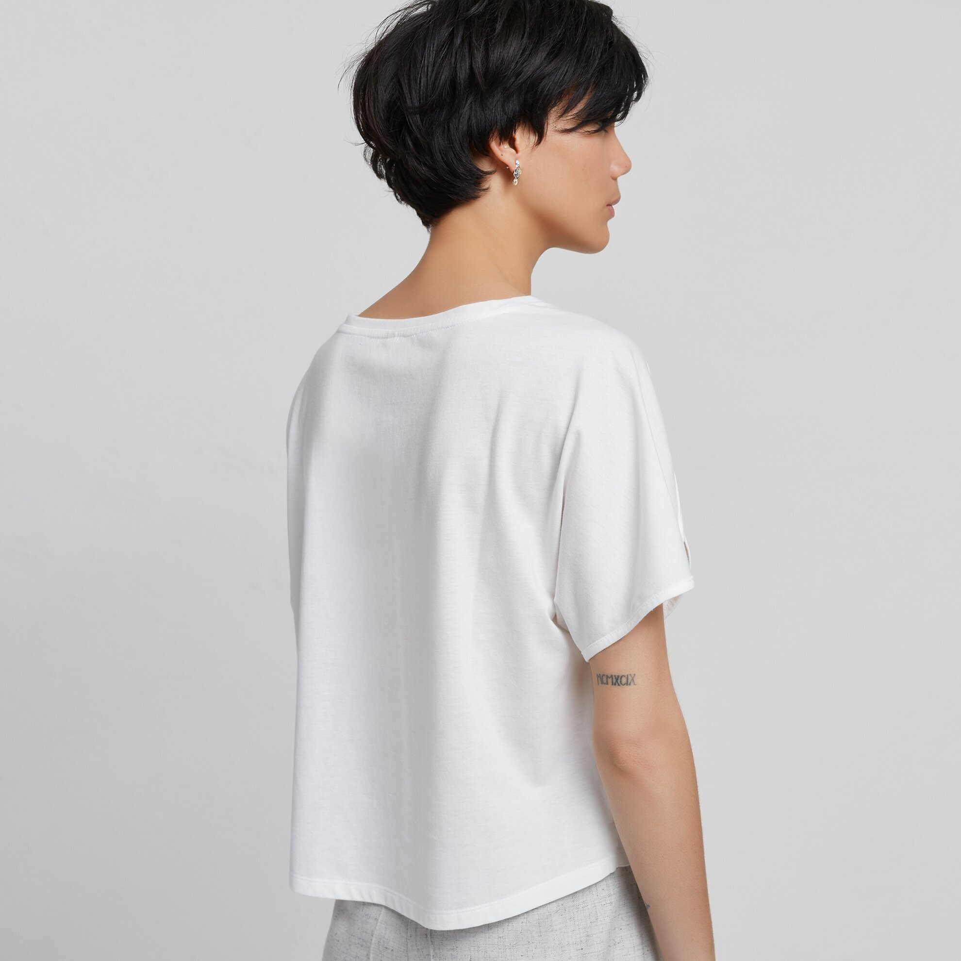 Sleeve Detailed T-Shirt