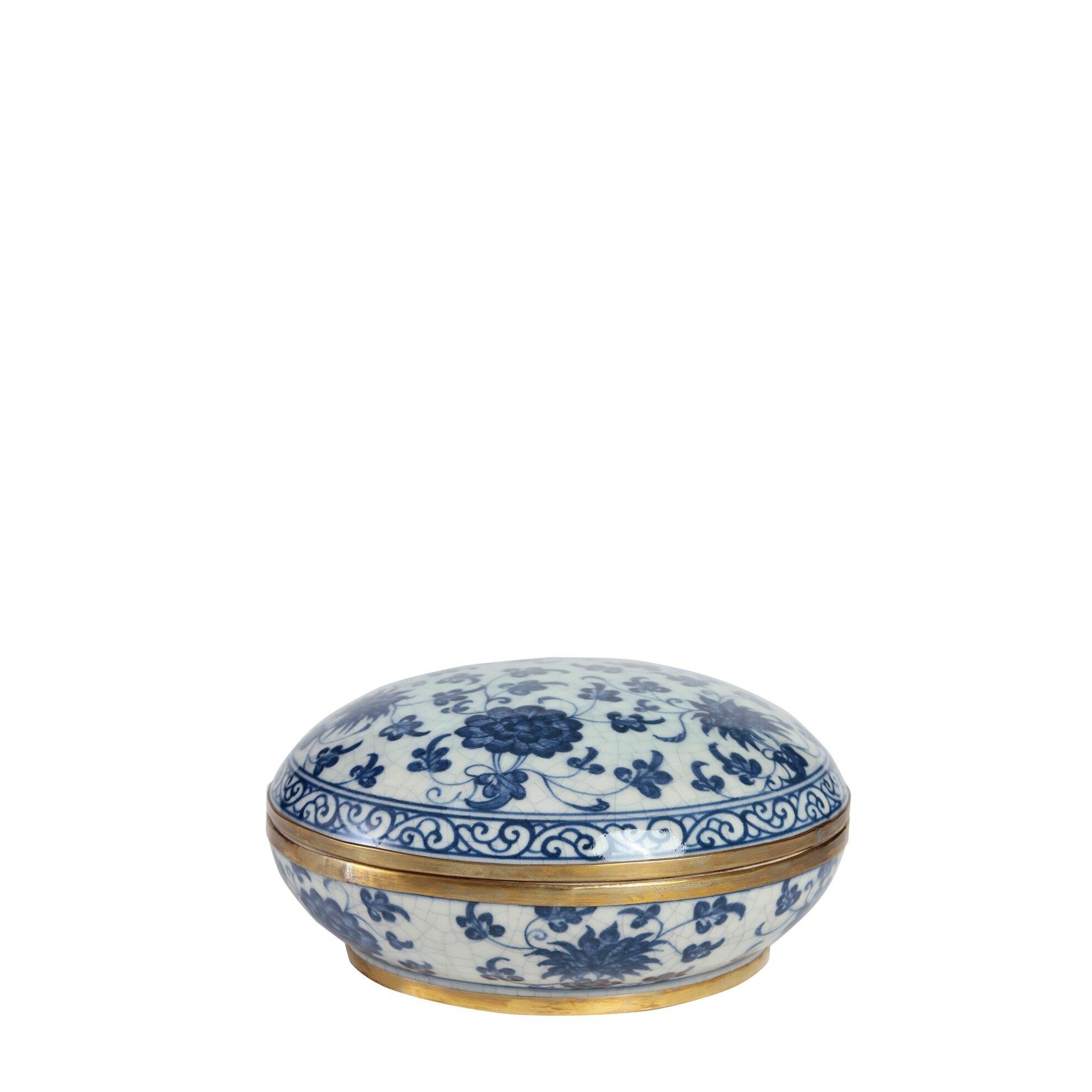 Dekoratif Obje - Bleu Blanc Kutu (17x8cm)