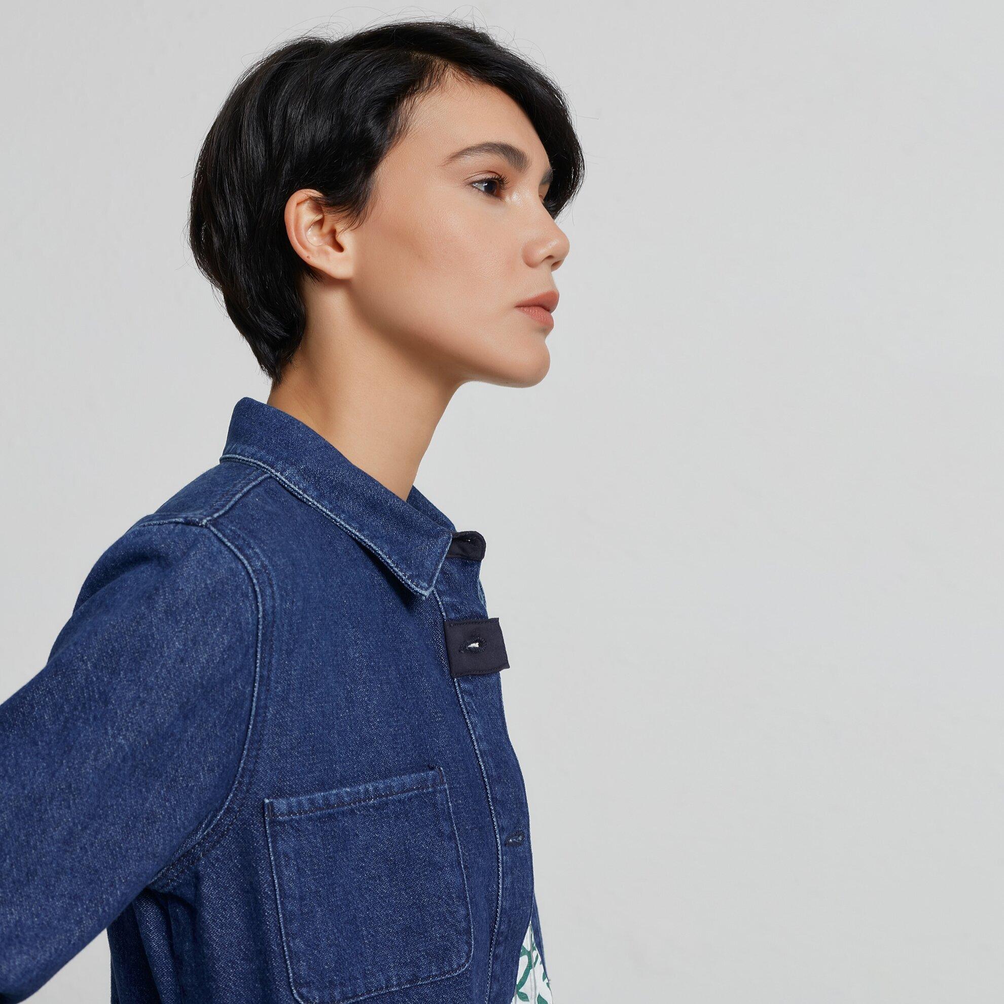 Dikiş Detaylı Denım Ceket