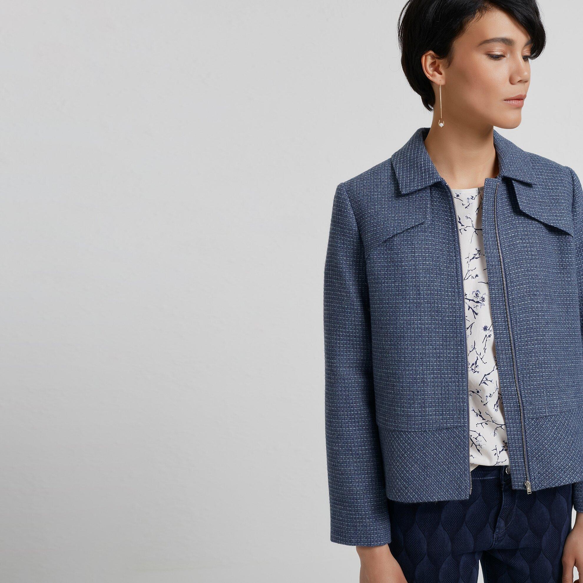 Damen Jacke mit Seitenstreifen