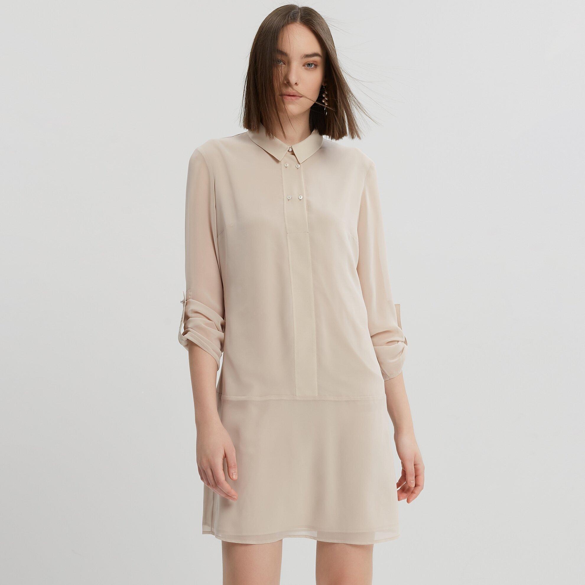 Apolet Detaylı Elbise