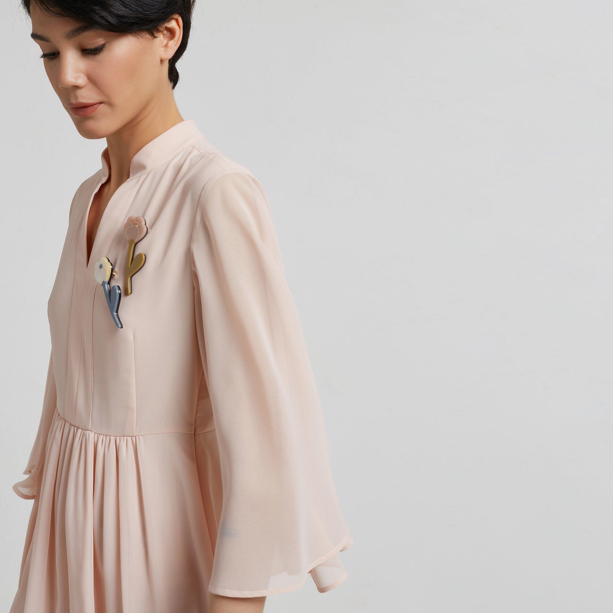 Yarasa Kollu Mıdı Elbise