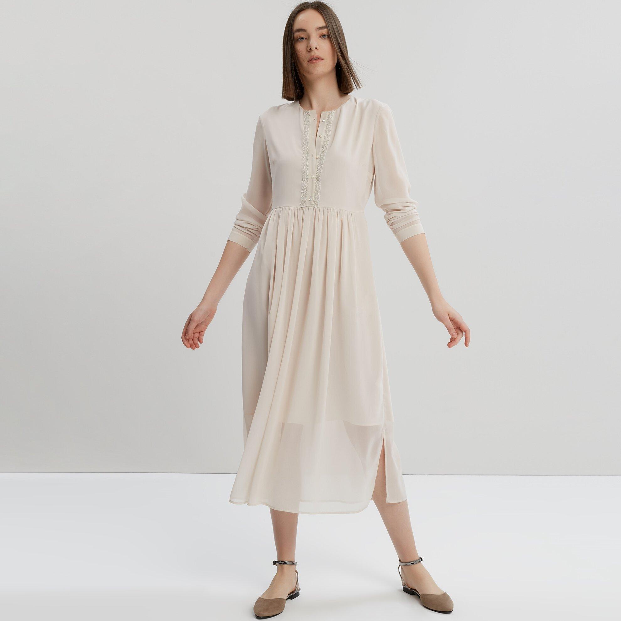 Payet Detaylı Maksi Elbise