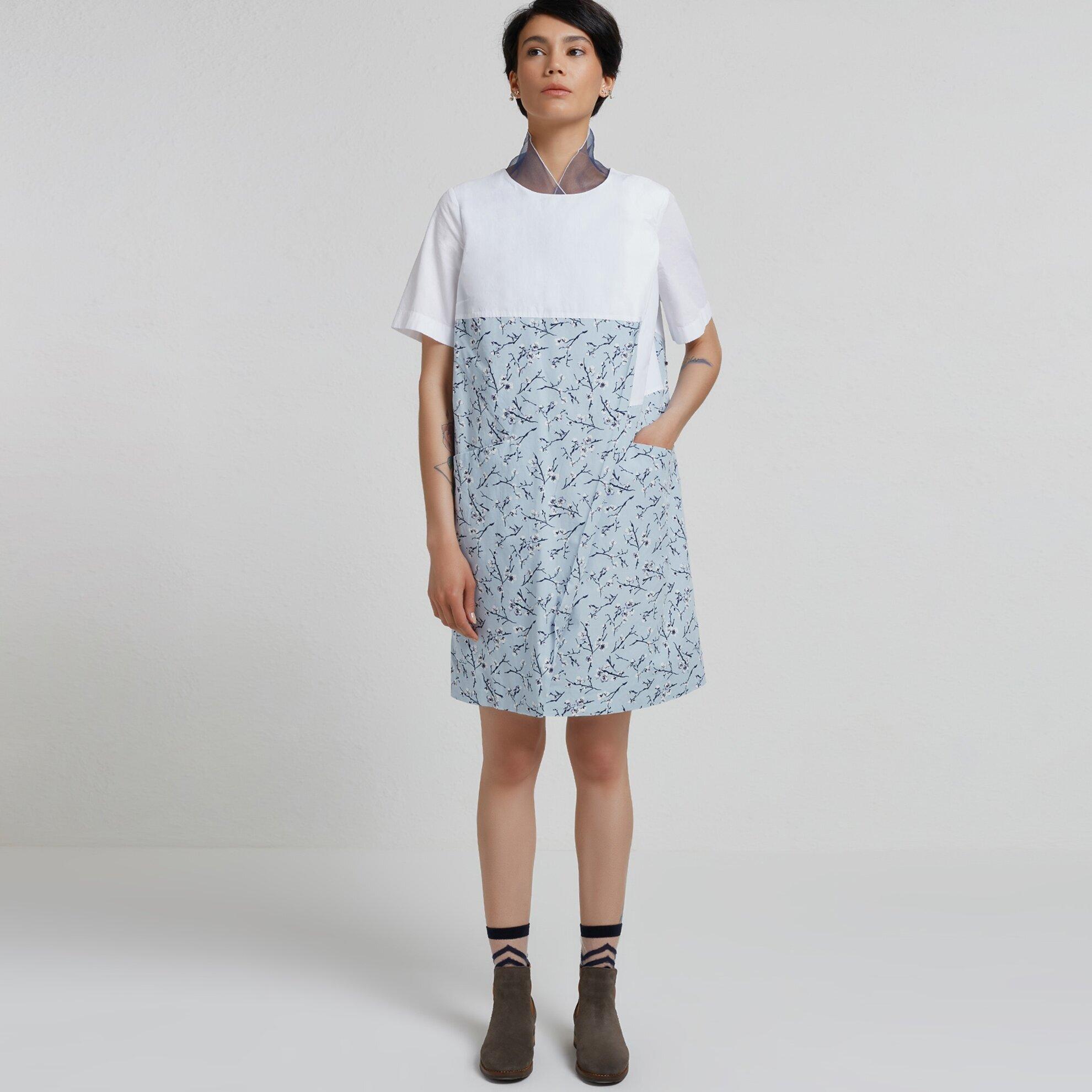 Blok Detailed Elbise