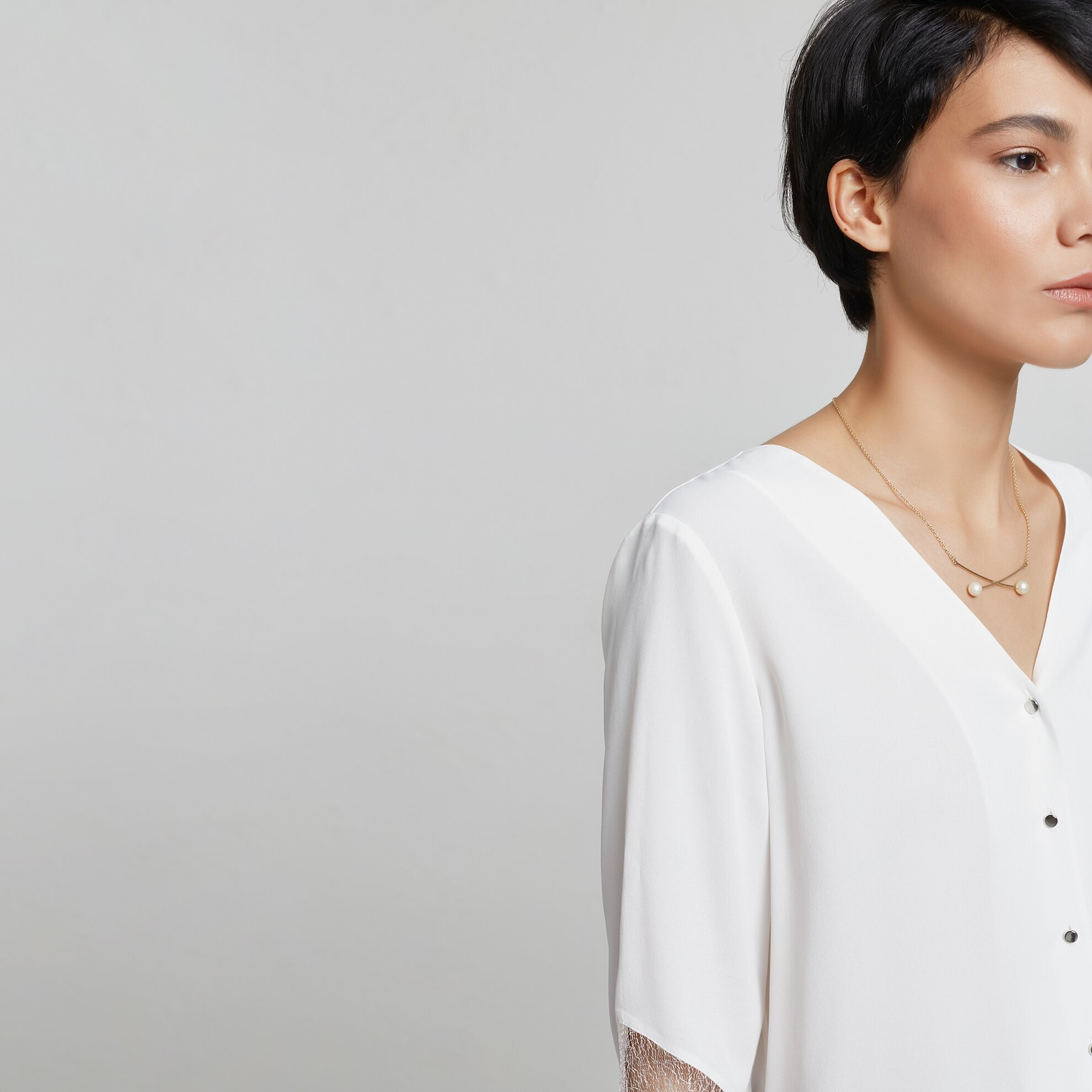 Dantel Detaylı Gömlek