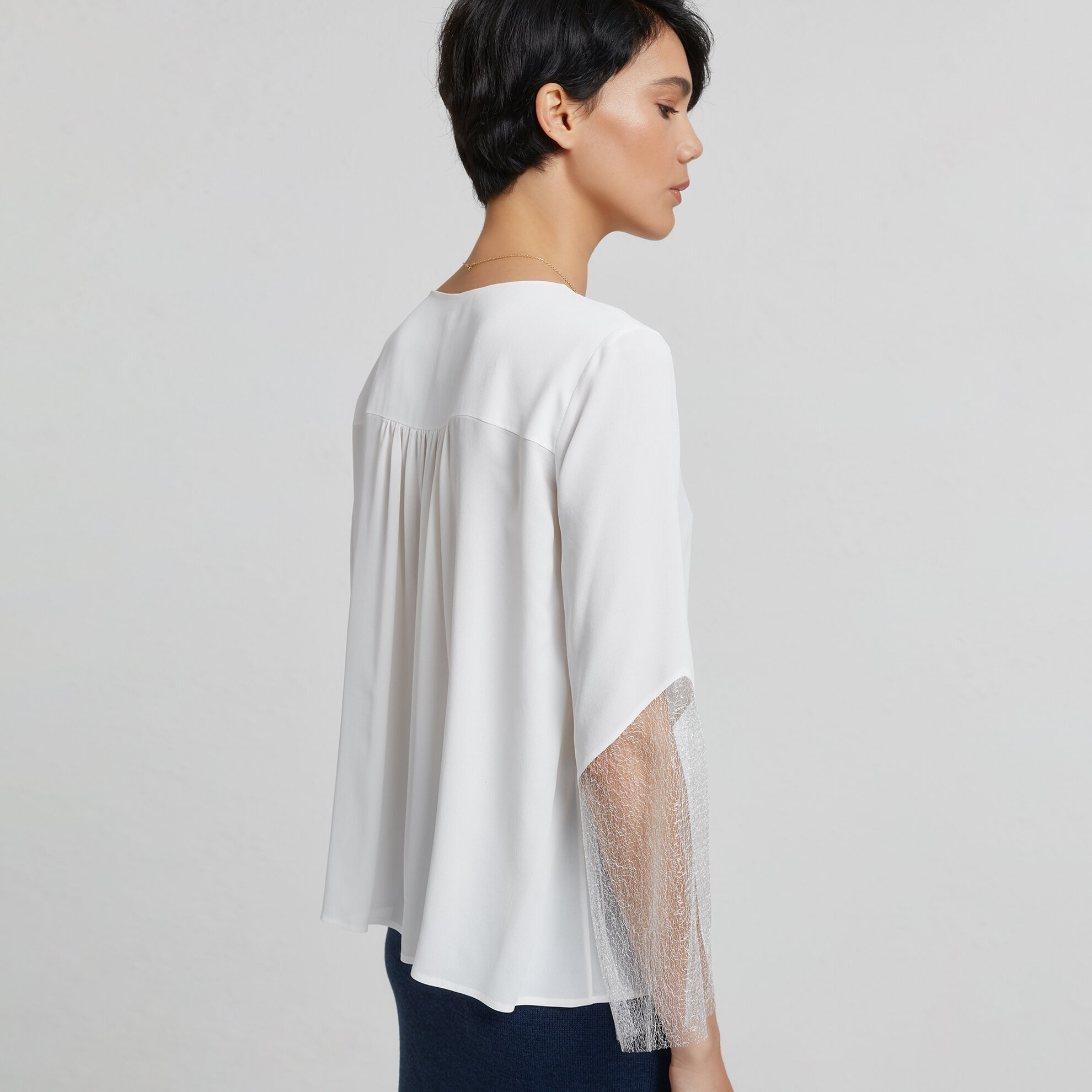 Lace Trimmed Shirt