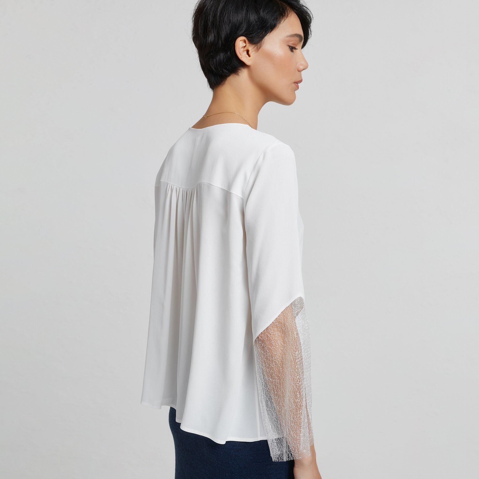 Damen Hemd mit Spitzendetail
