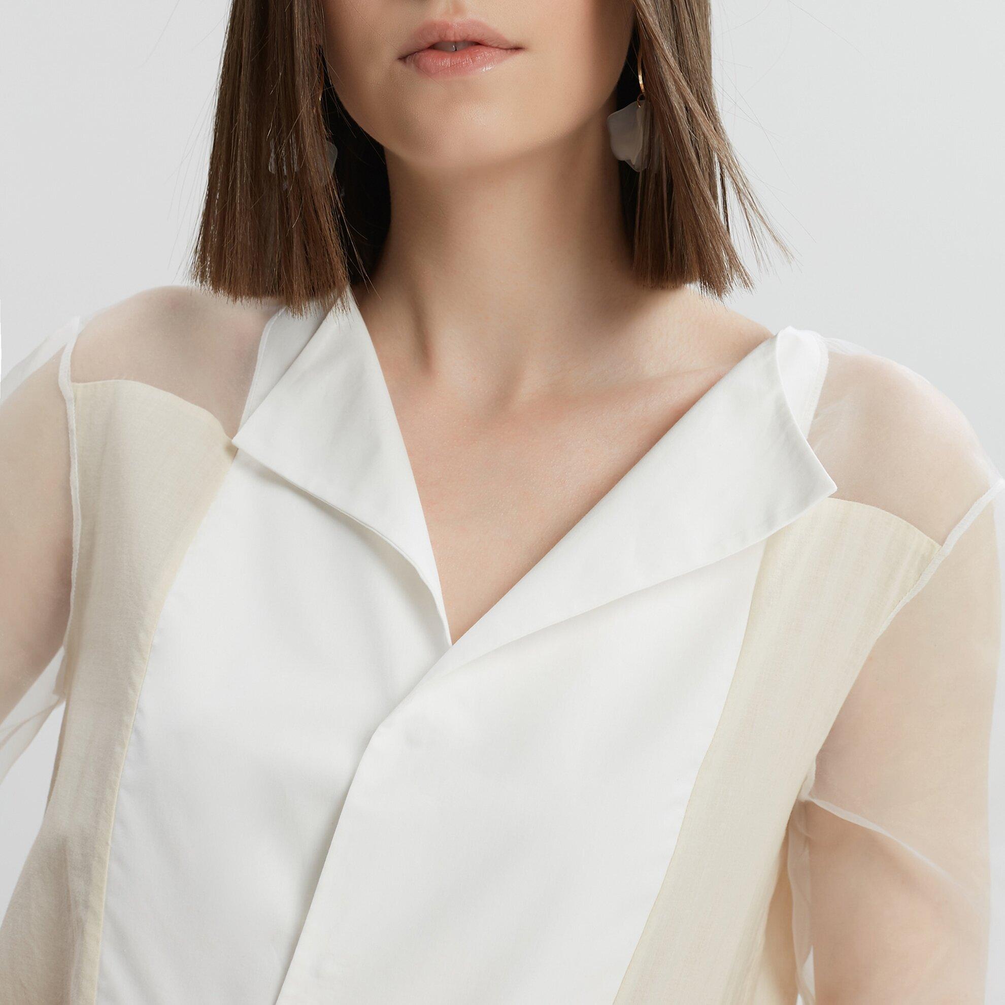 Transparent Blocked Shirt