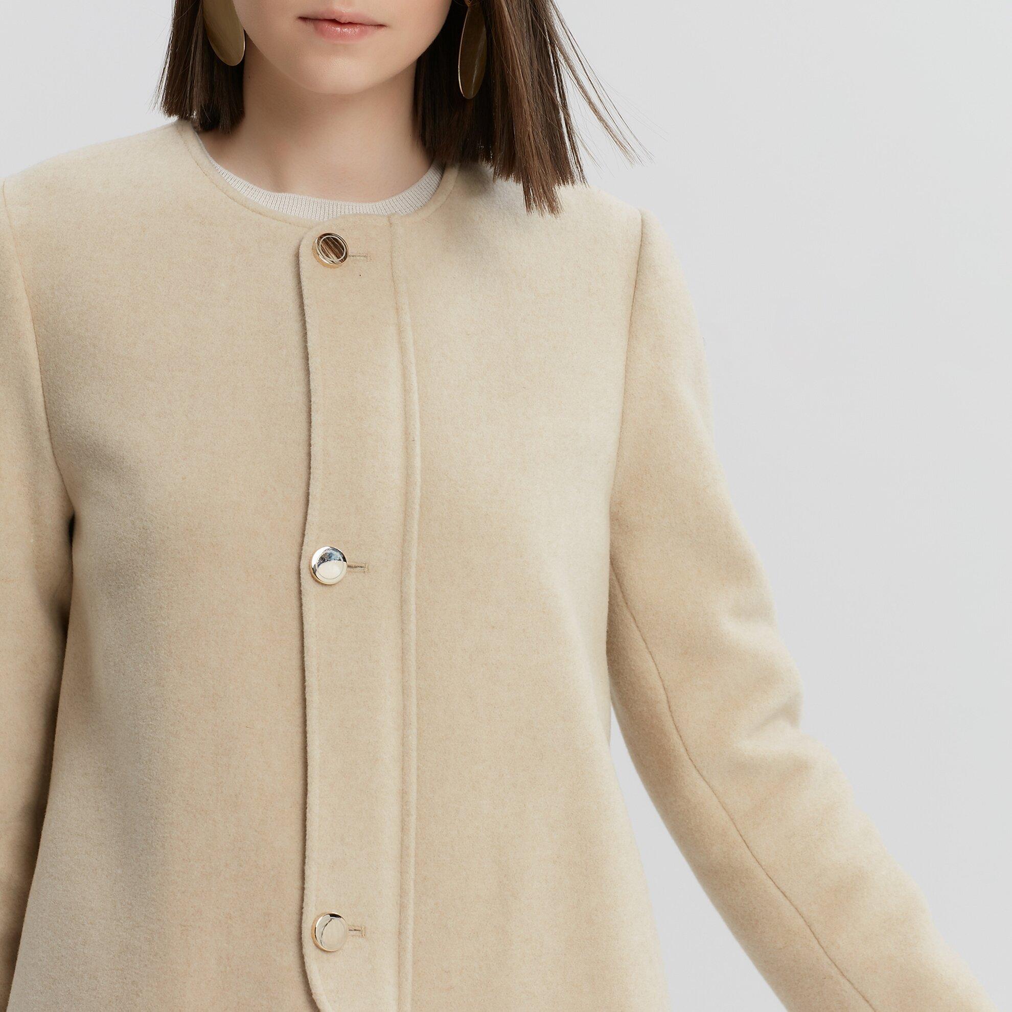 Bağlama Detaylı Uzun Palto