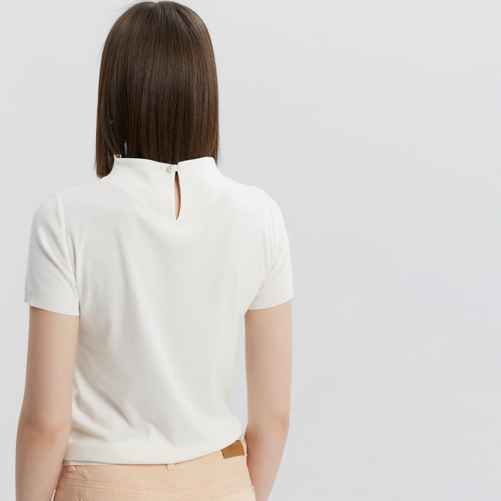 Swan Neck Print Detailed Knitwear