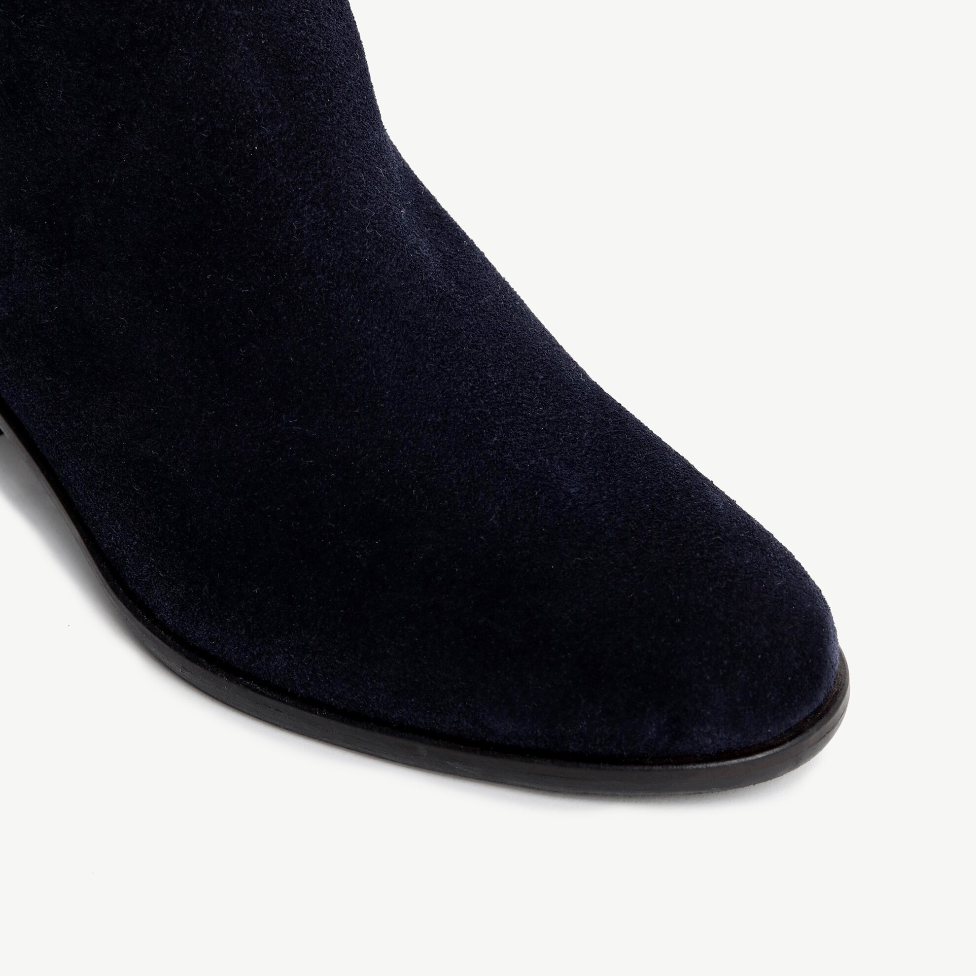 Suede High Heel Ankle Boot