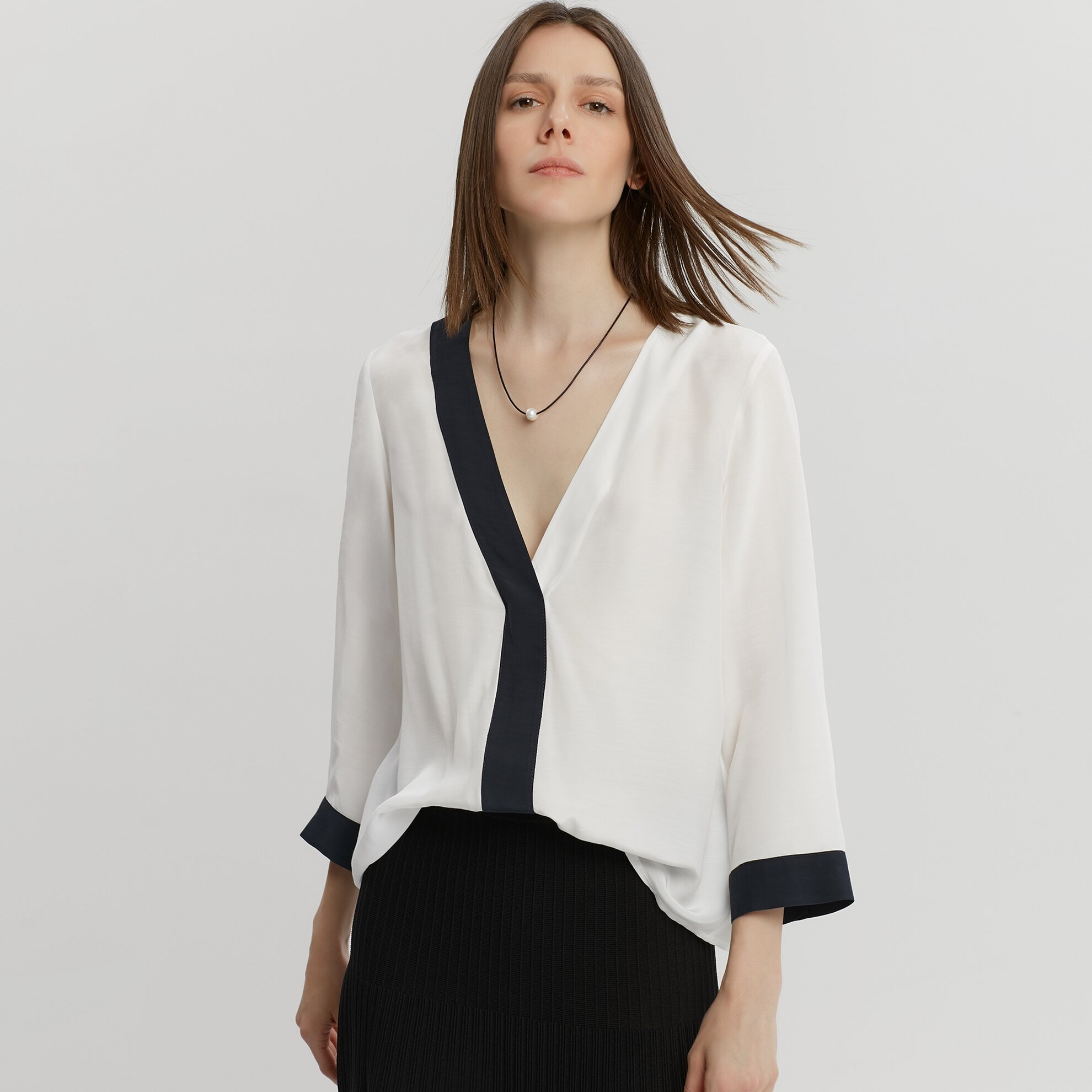 Contrast Detailed Shirt