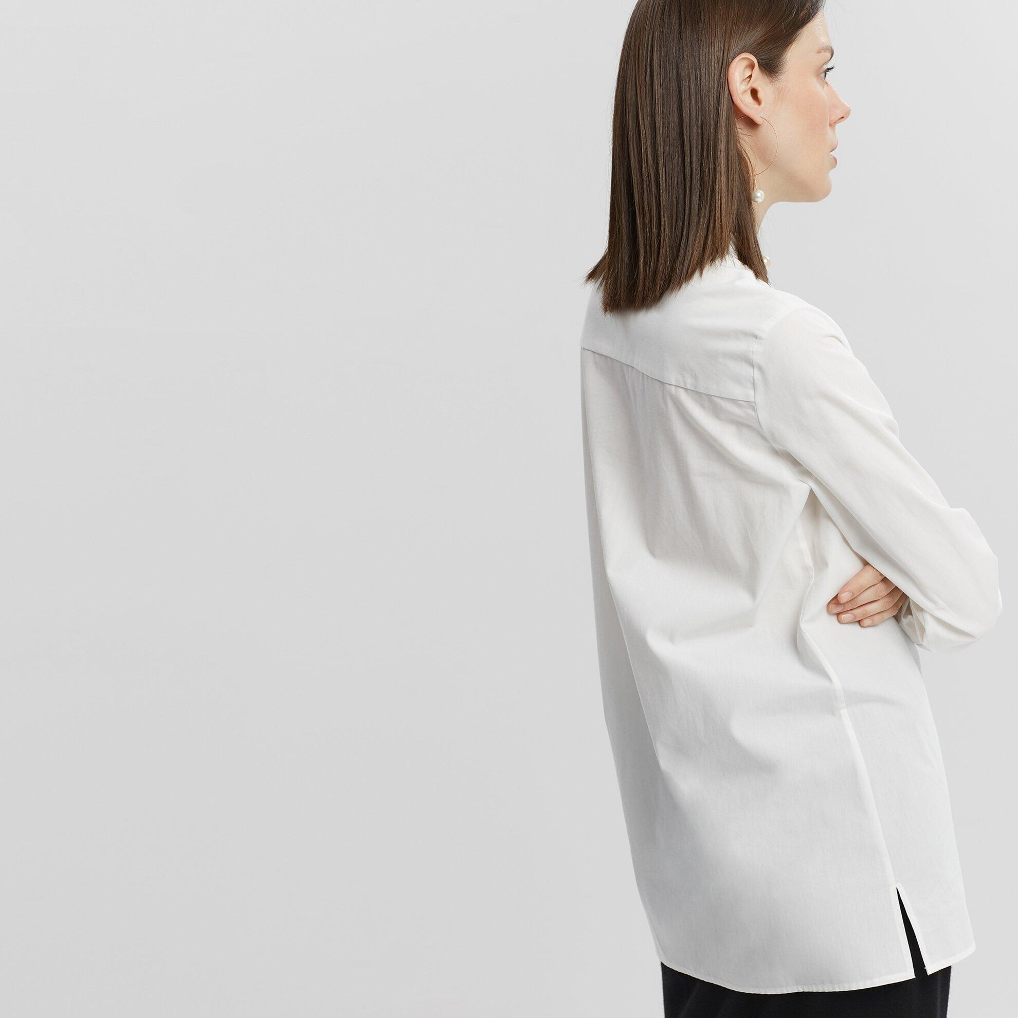 Damen Hemd mit aufrechtem Kragen