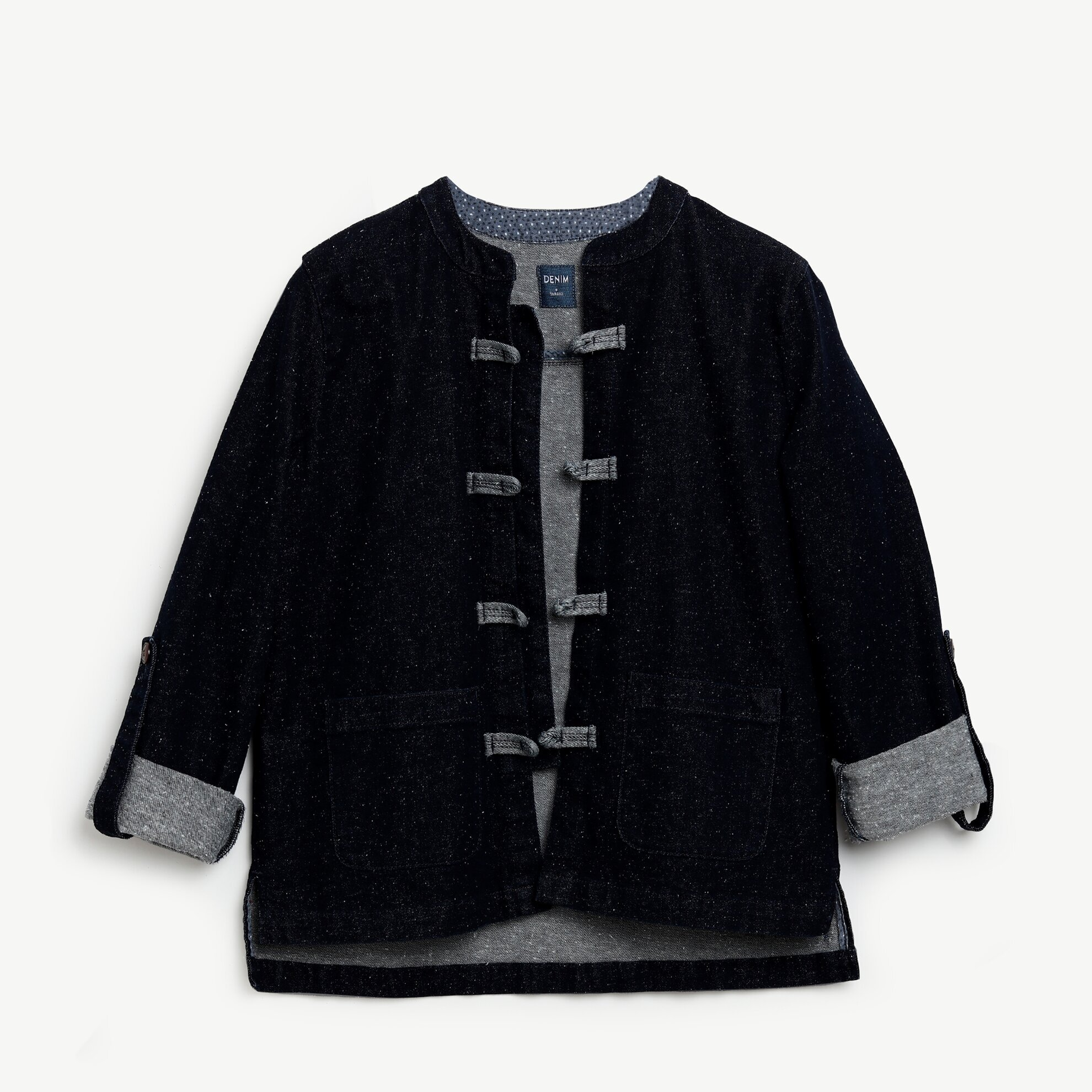 Jeansjacke in Kimonoform