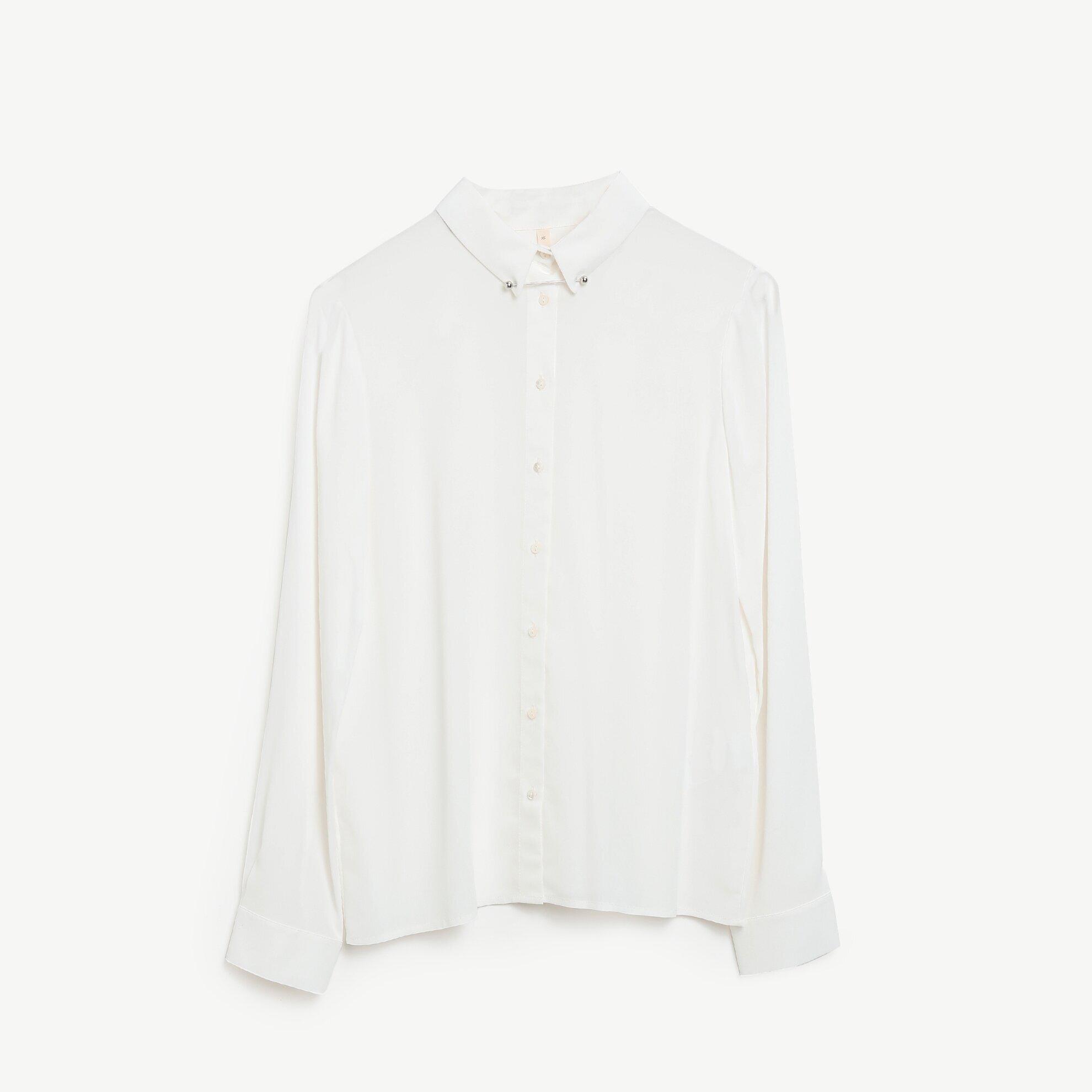 Collar Pin Detailed Shirt