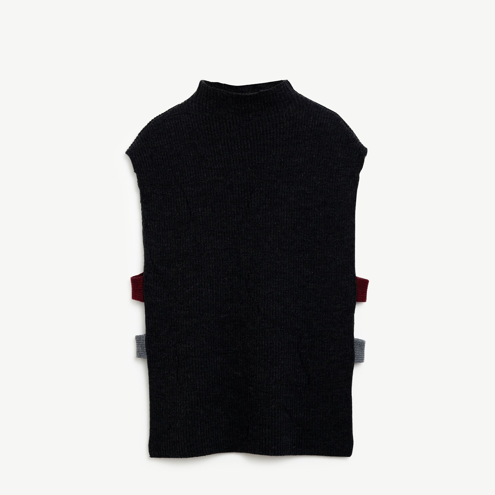 Turtle Neck Sleeveless Long Knitwear