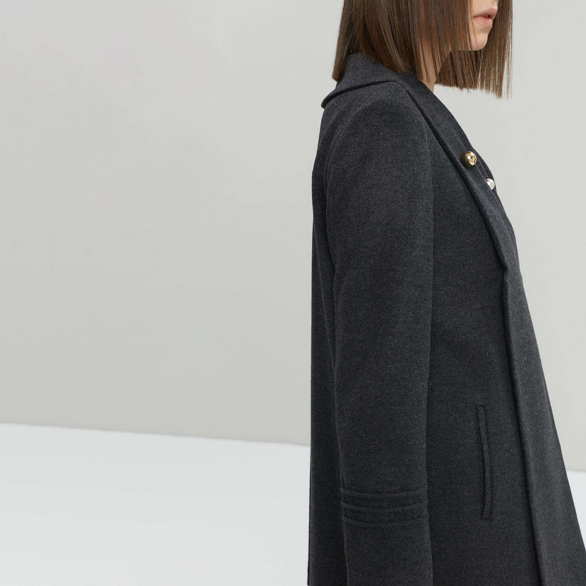 Mantel mit Plissee Falten Damen kurz wn0N8PkXO