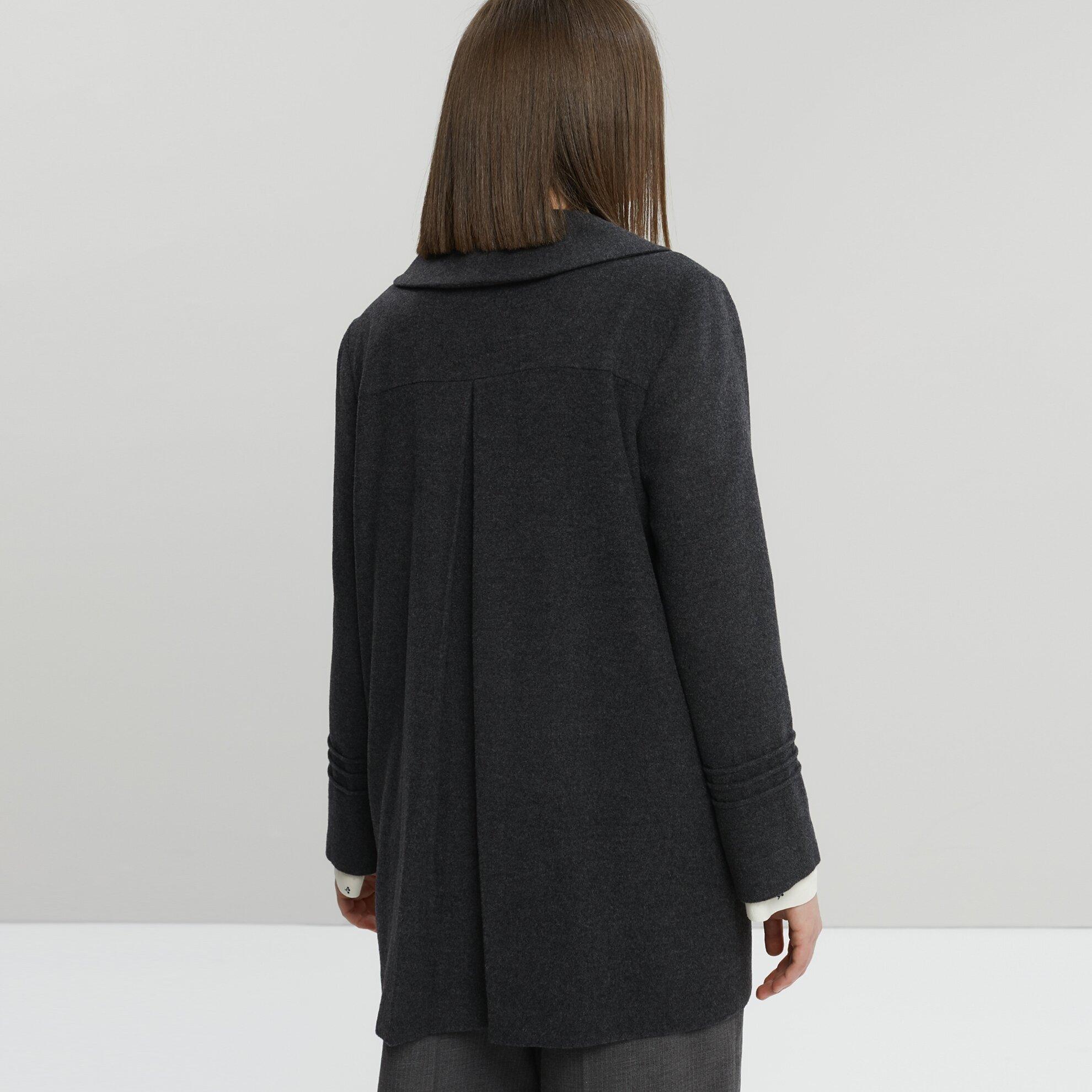 Nervür Detaylı Kısa Palto