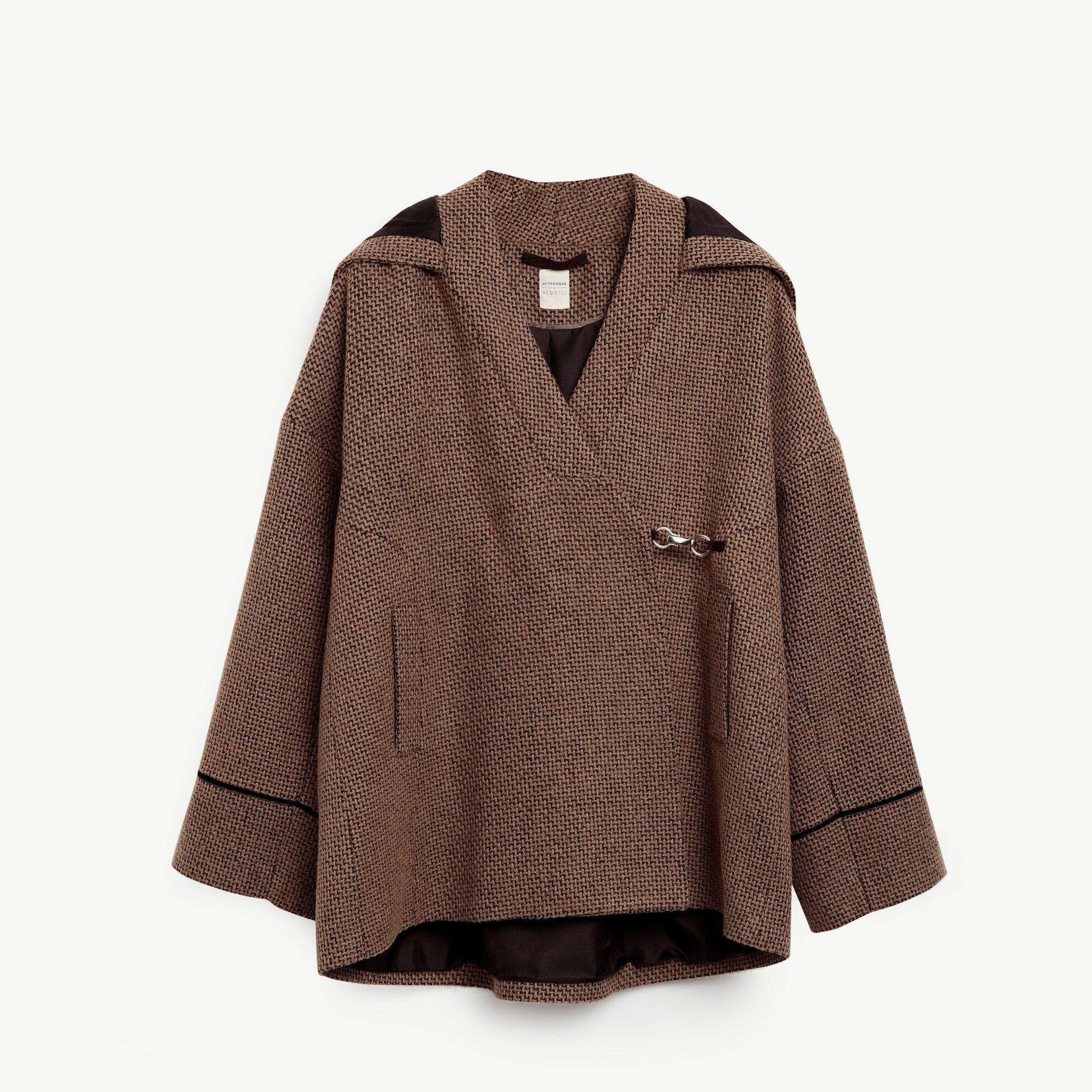 Kapüşonlu Kısa Palto