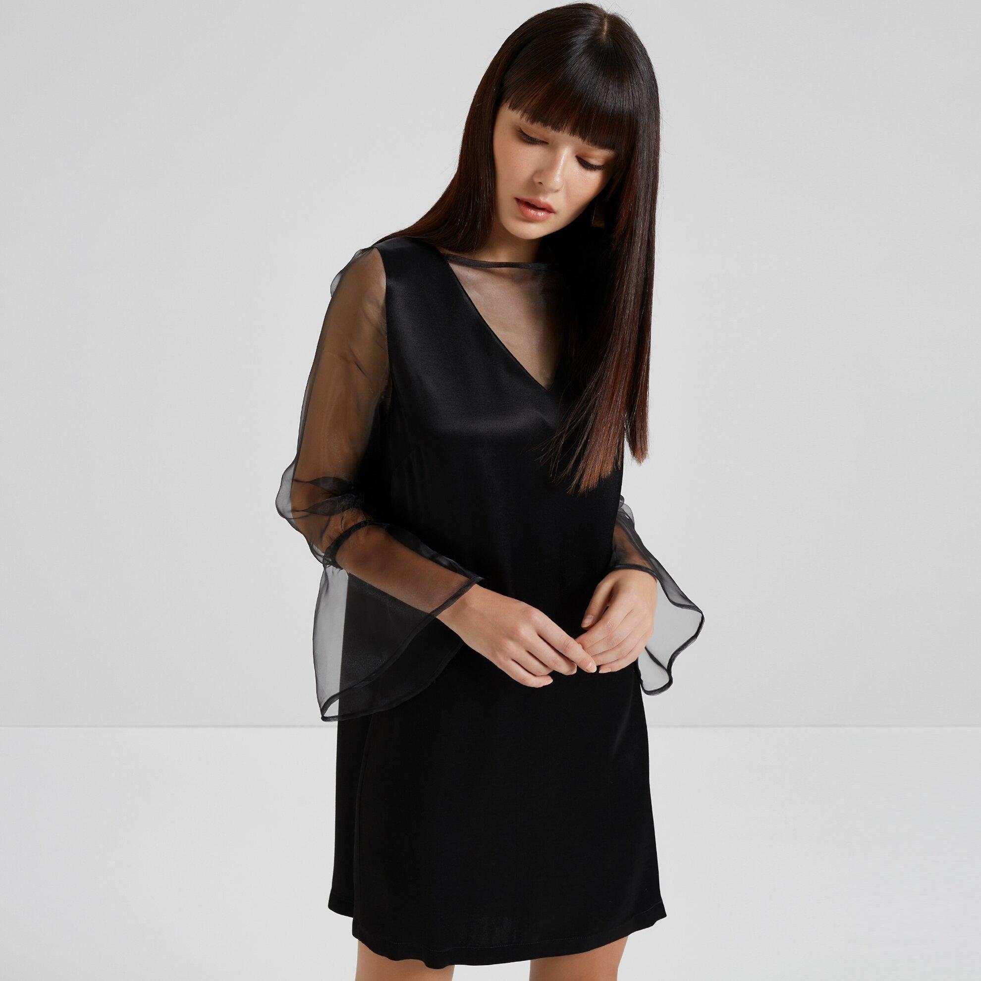 Organze Detaylı Elbise