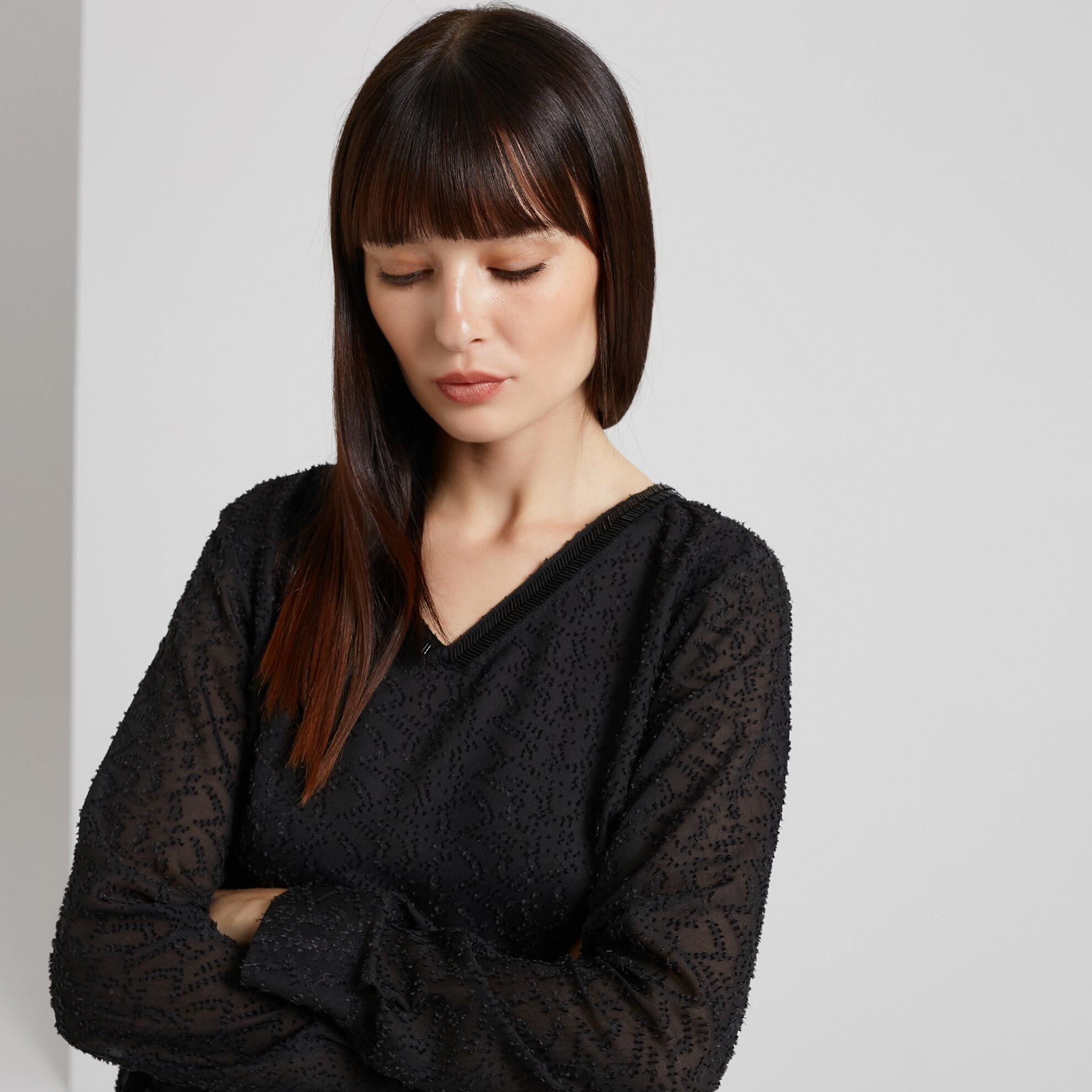 Bluse mit Kragendetail