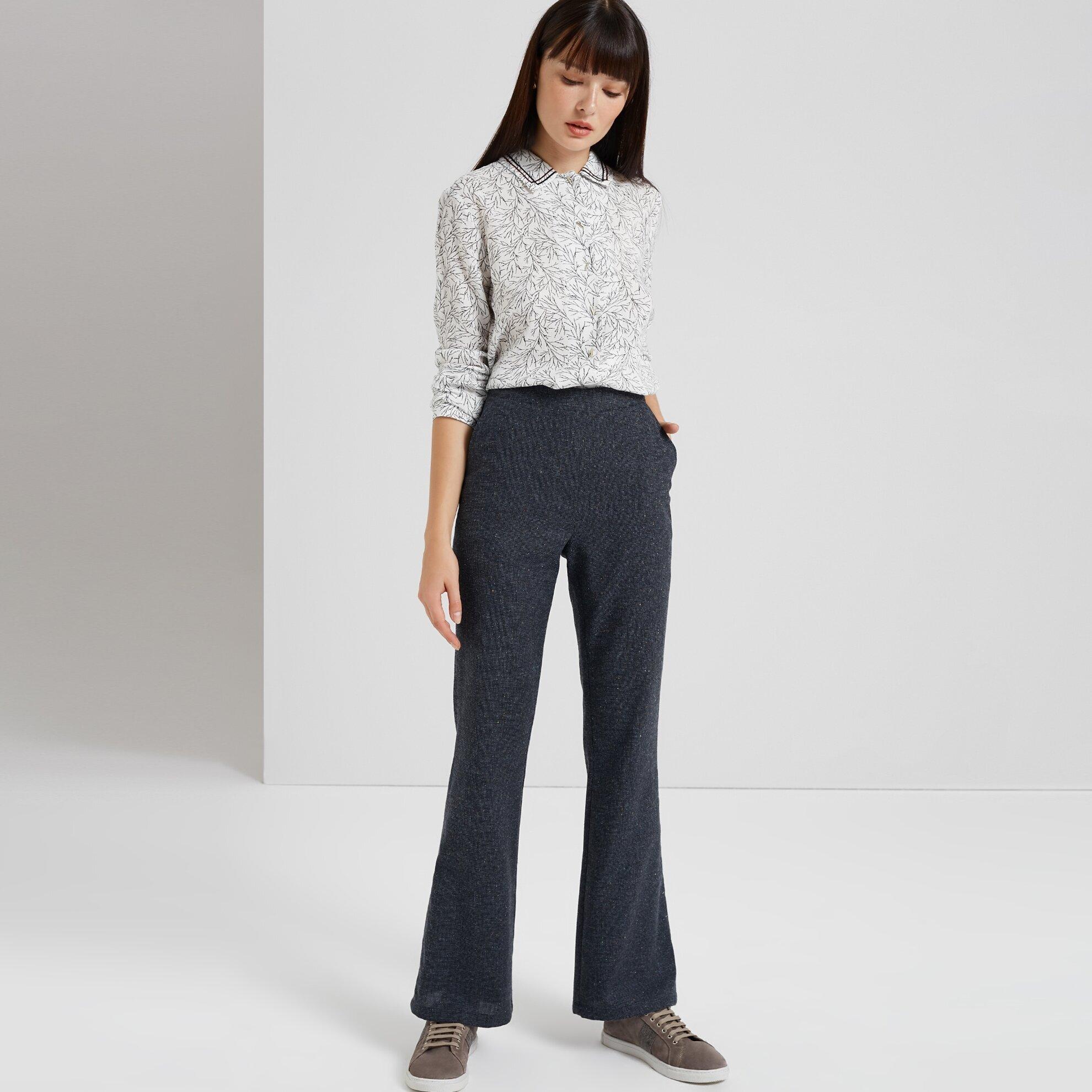 Geniş Paça Yanı Detaylı Pantolon