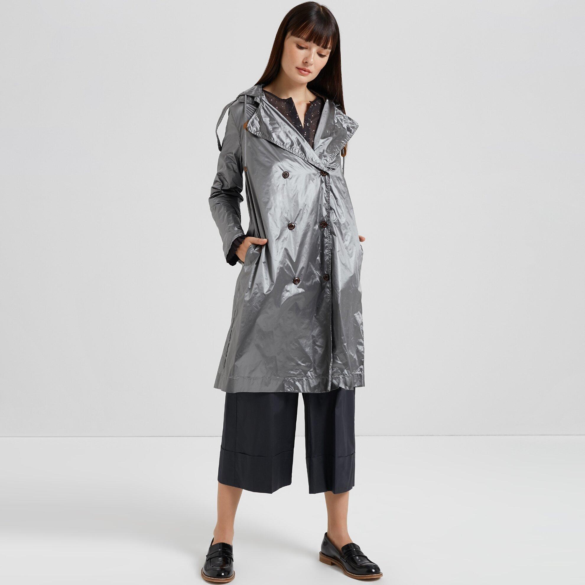 Damen Regenjacke mit Details an Ärmeln