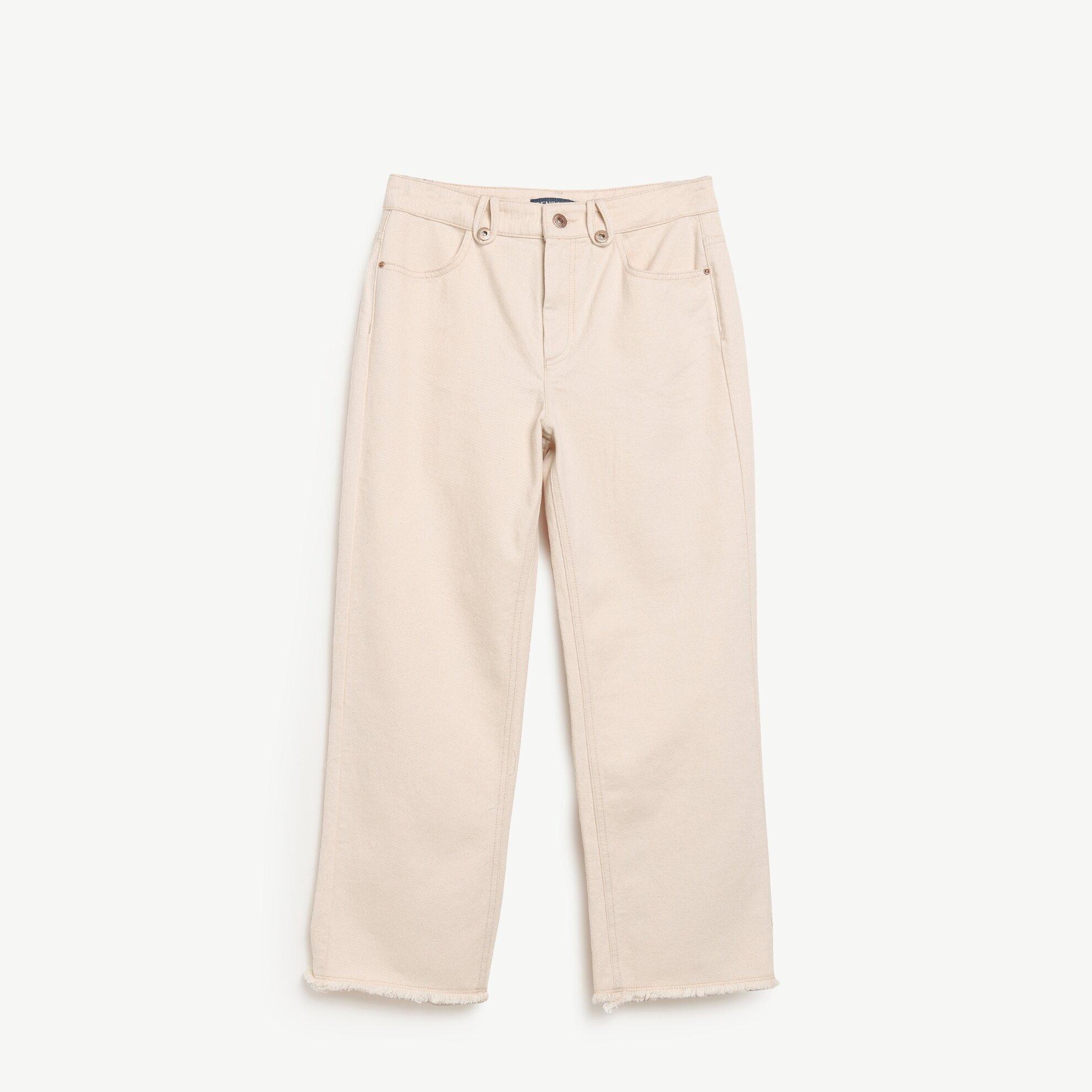Pis Kenar Bitişli Kısa Paça Denim Pantolon