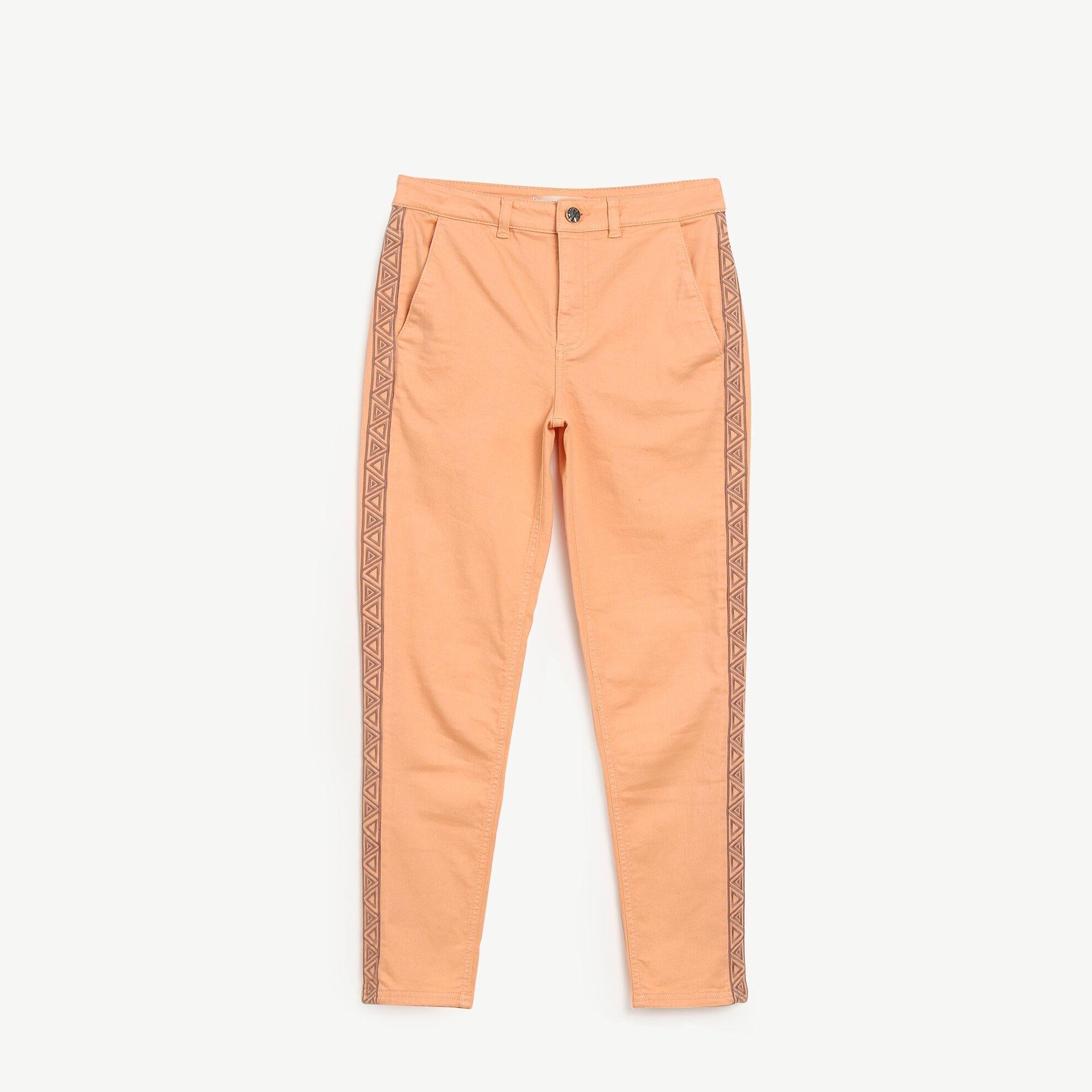 Nakış Detaylı Denim Pantolon